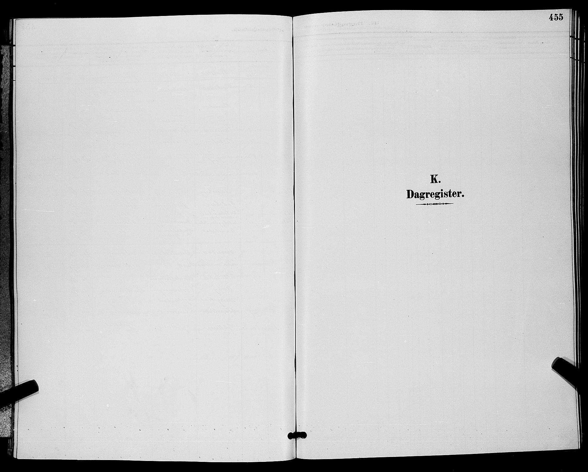 SAKO, Bamble kirkebøker, G/Ga/L0009: Klokkerbok nr. I 9, 1888-1900, s. 455
