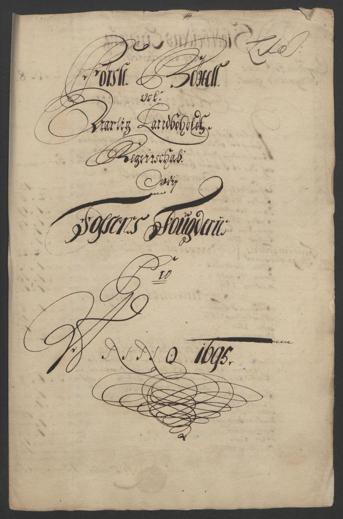RA, Rentekammeret inntil 1814, Reviderte regnskaper, Fogderegnskap, R57/L3851: Fogderegnskap Fosen, 1695-1696, s. 142