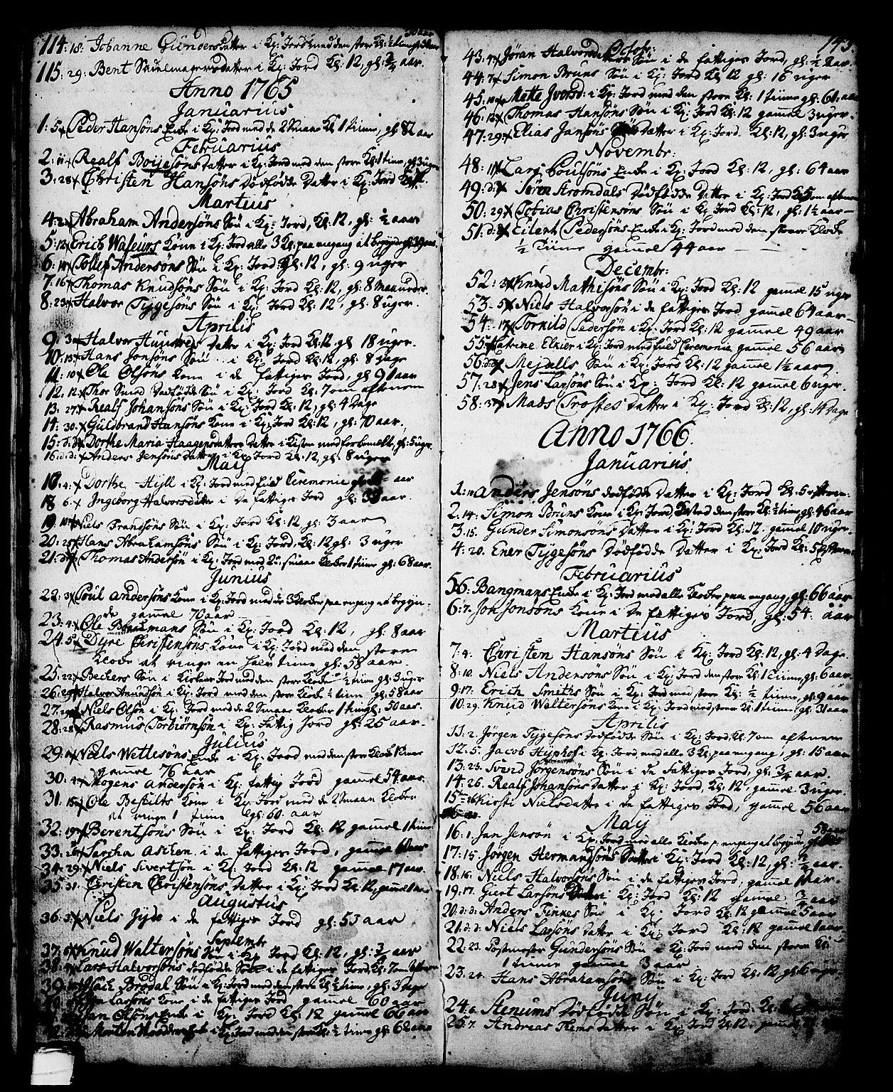 SAKO, Skien kirkebøker, G/Ga/L0001: Klokkerbok nr. 1, 1756-1791, s. 143