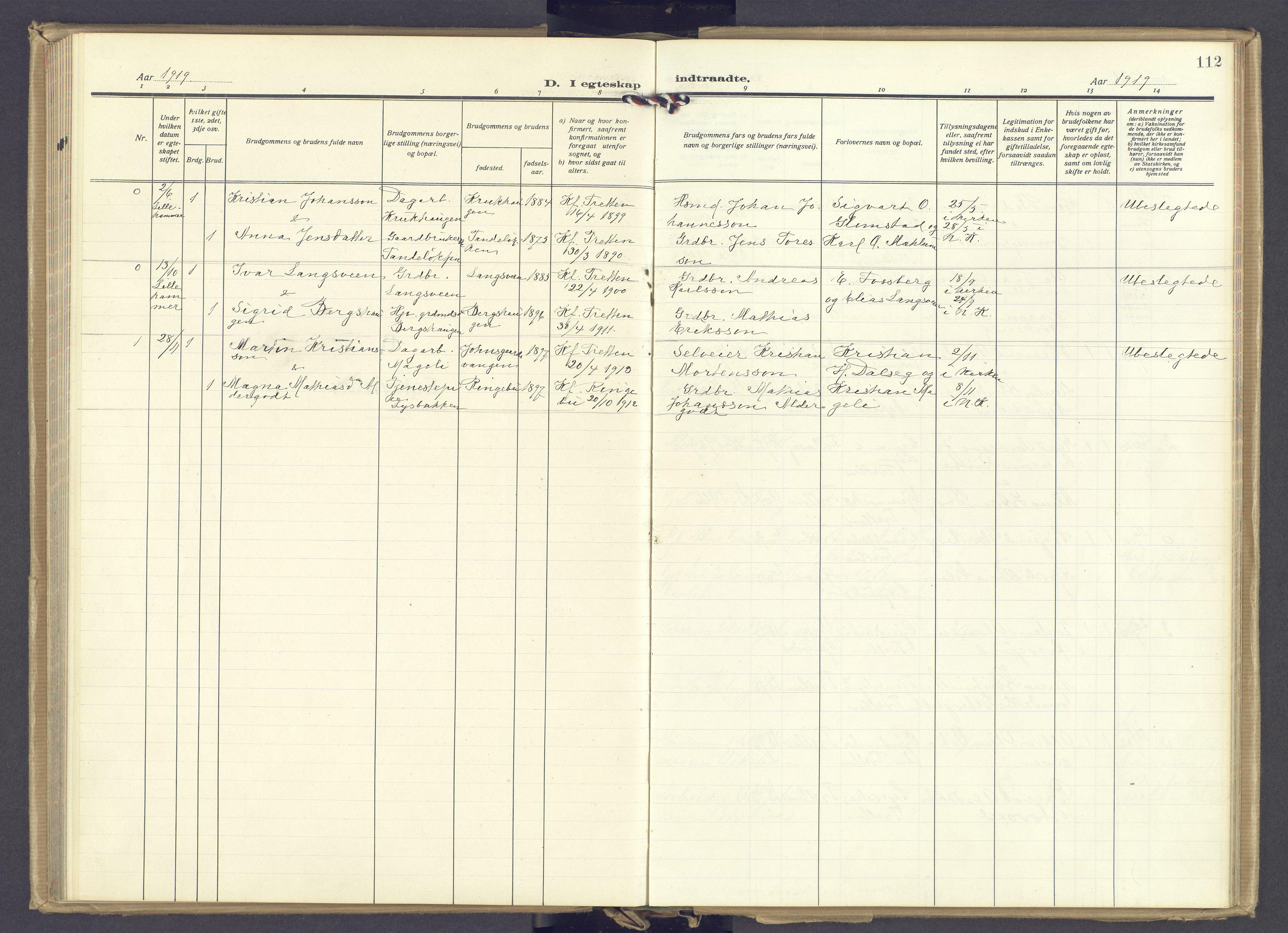 SAH, Øyer prestekontor, Ministerialbok nr. 14, 1919-1932, s. 112