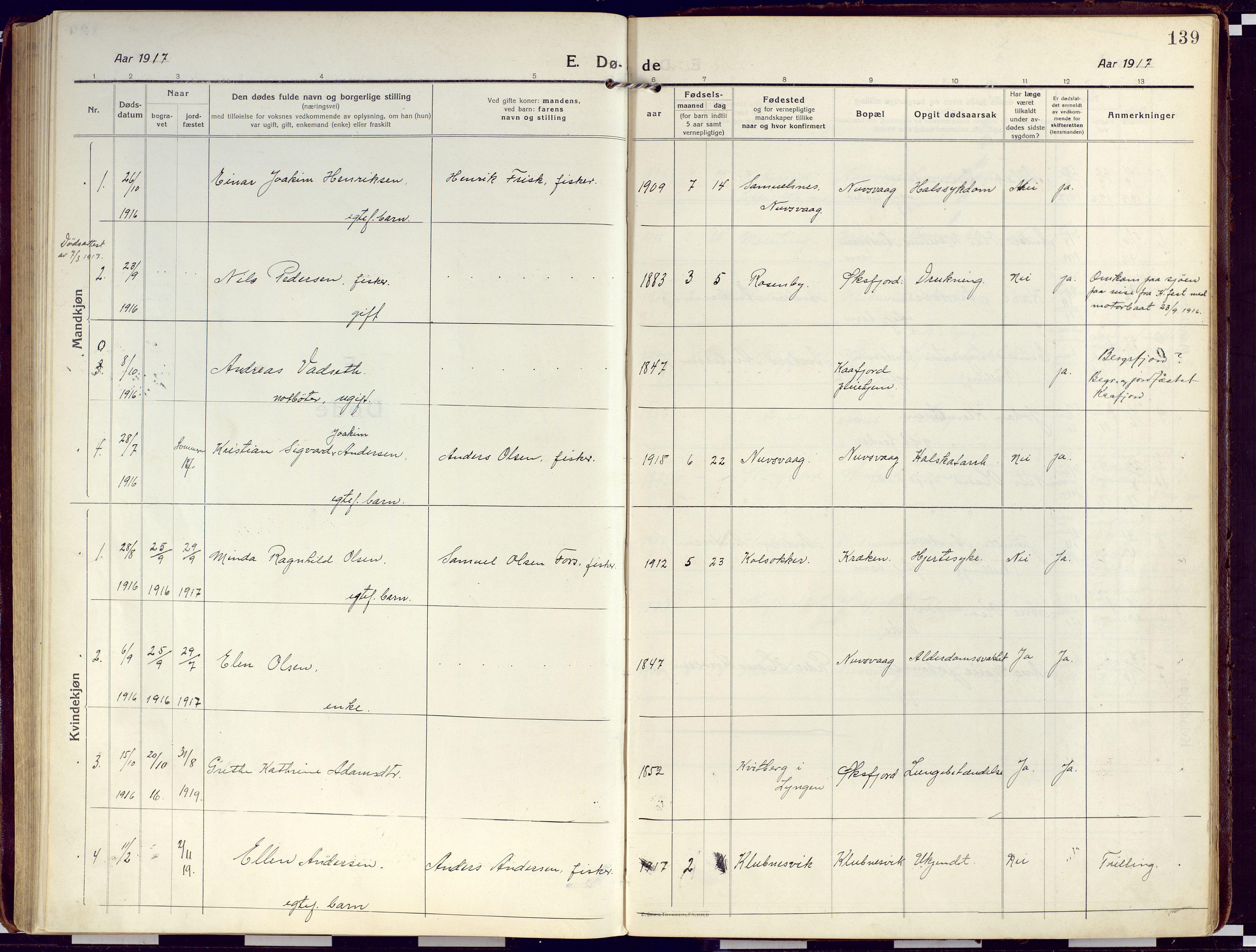 SATØ, Loppa sokneprestkontor, H/Ha/L0012kirke: Ministerialbok nr. 12, 1917-1932, s. 139