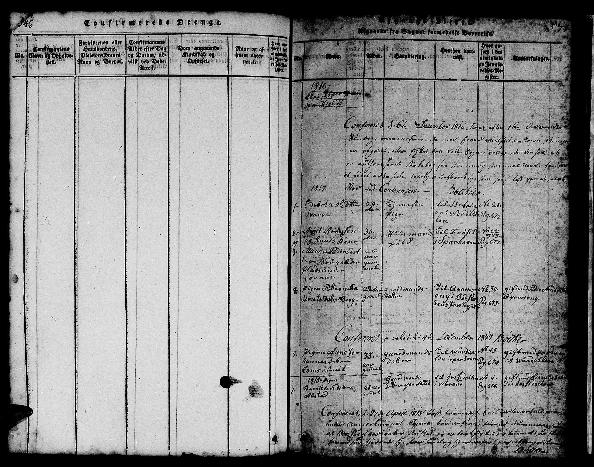 SAT, Ministerialprotokoller, klokkerbøker og fødselsregistre - Nord-Trøndelag, 731/L0310: Klokkerbok nr. 731C01, 1816-1874, s. 546-571