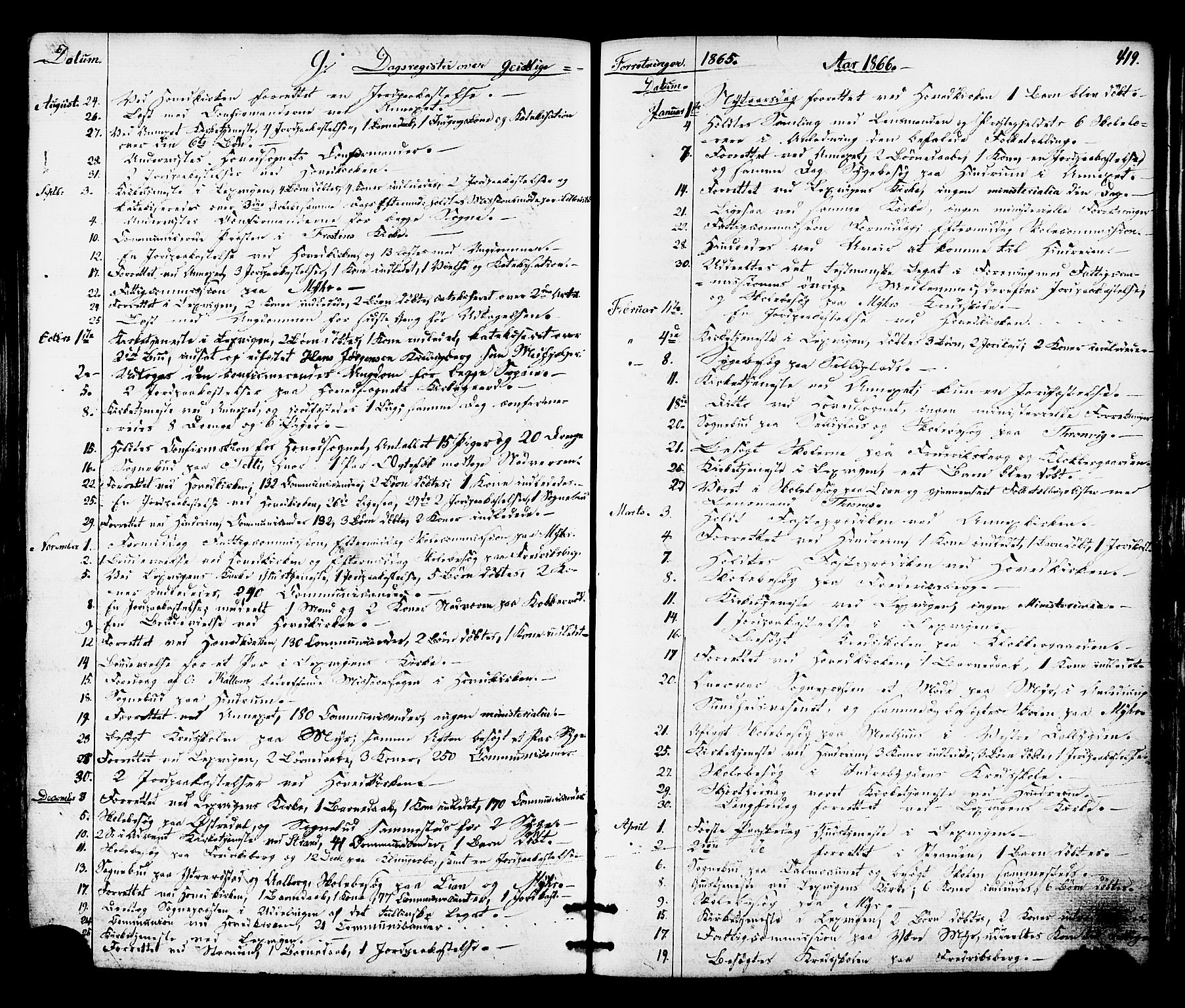 SAT, Ministerialprotokoller, klokkerbøker og fødselsregistre - Nord-Trøndelag, 701/L0009: Ministerialbok nr. 701A09 /1, 1864-1882, s. 419