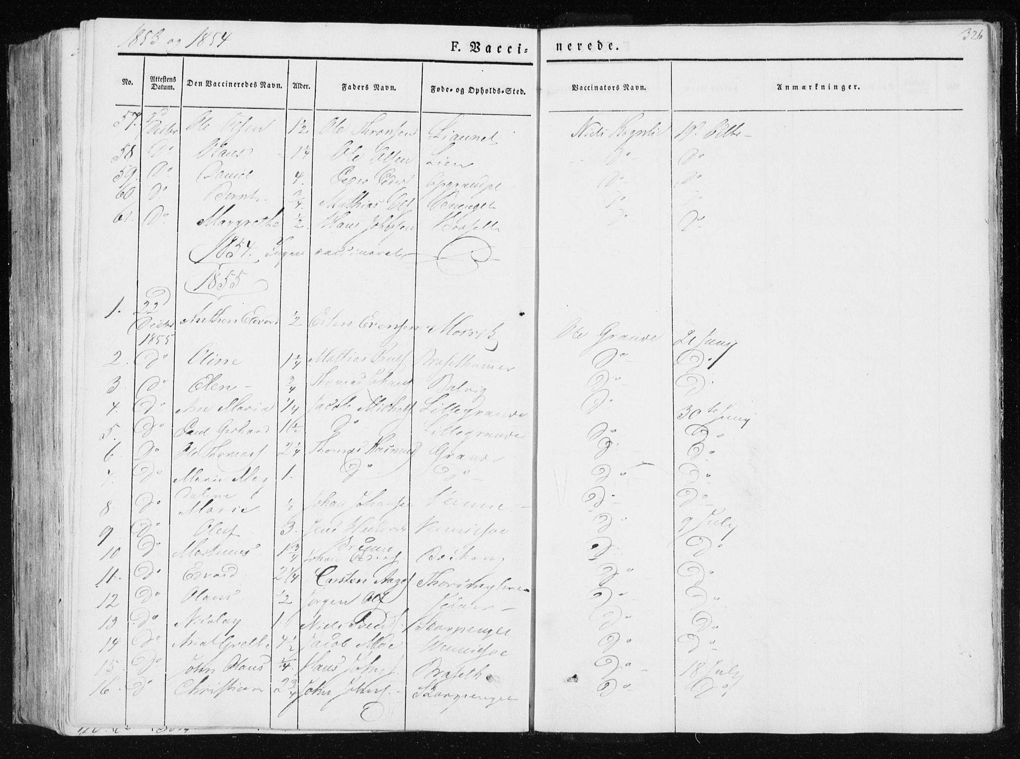 SAT, Ministerialprotokoller, klokkerbøker og fødselsregistre - Nord-Trøndelag, 733/L0323: Ministerialbok nr. 733A02, 1843-1870, s. 326