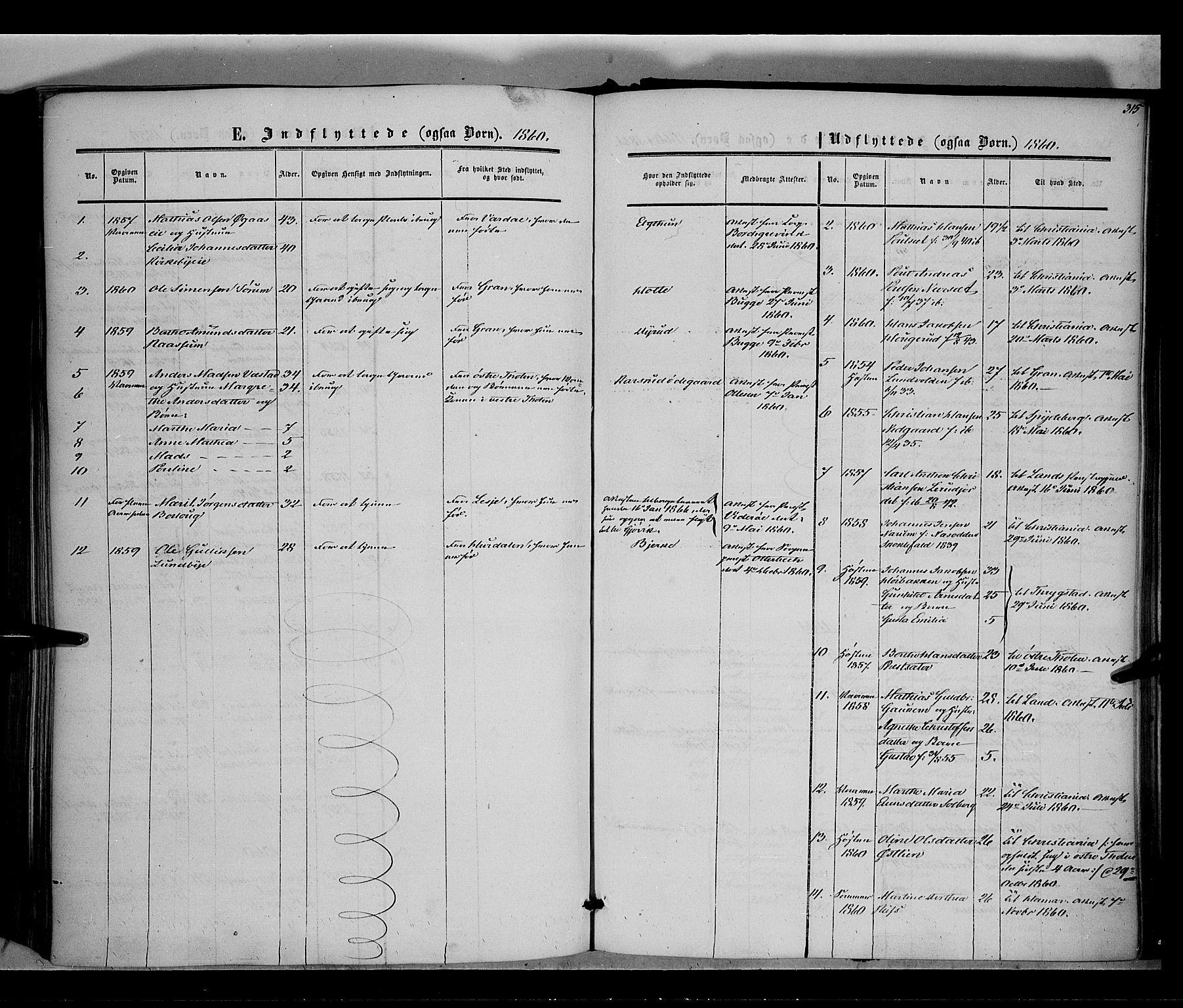 SAH, Vestre Toten prestekontor, Ministerialbok nr. 6, 1856-1861, s. 315