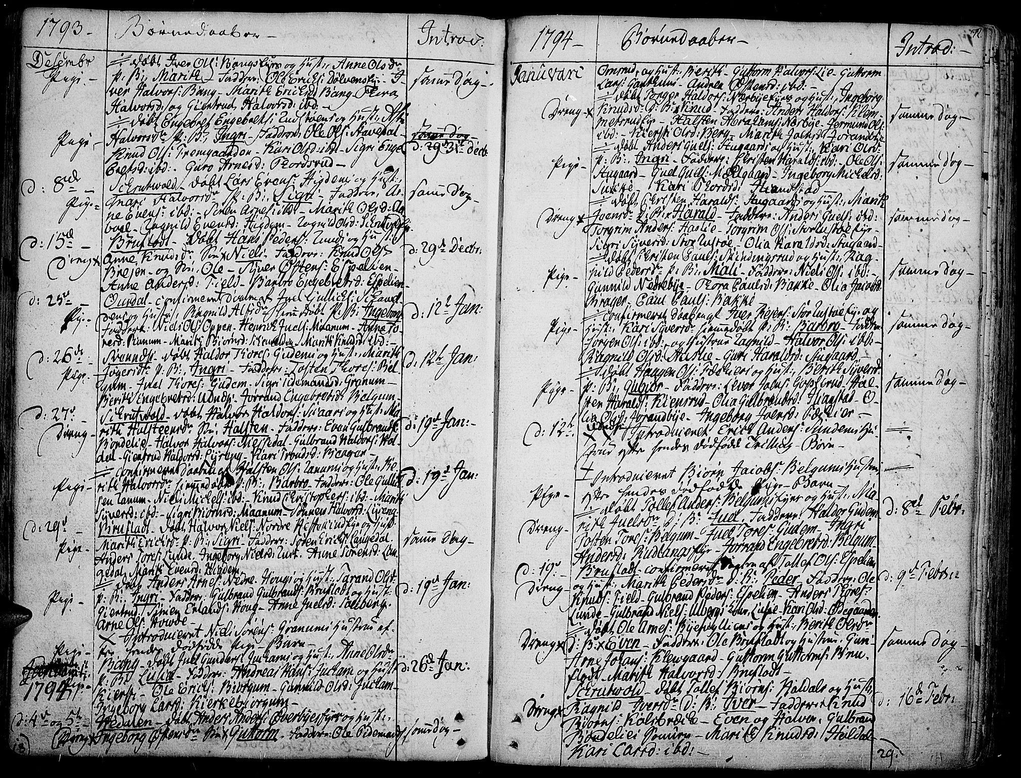 SAH, Aurdal prestekontor, Ministerialbok nr. 6, 1781-1804, s. 72