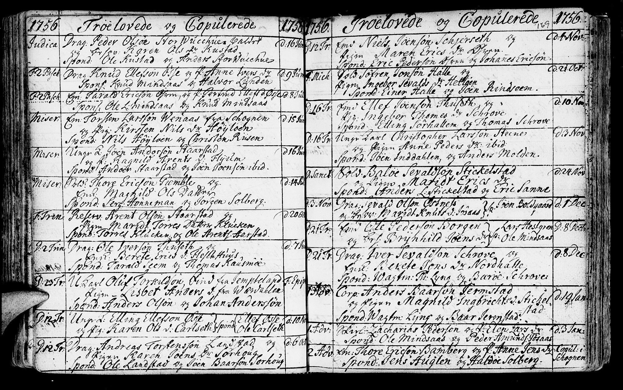 SAT, Ministerialprotokoller, klokkerbøker og fødselsregistre - Nord-Trøndelag, 723/L0231: Ministerialbok nr. 723A02, 1748-1780, s. 169