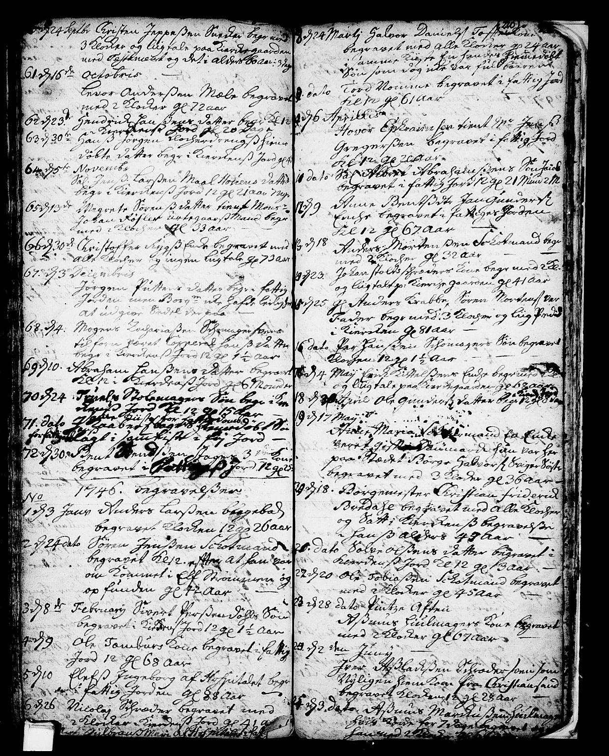 SAKO, Skien kirkebøker, F/Fa/L0002: Ministerialbok nr. 2, 1716-1757, s. 220