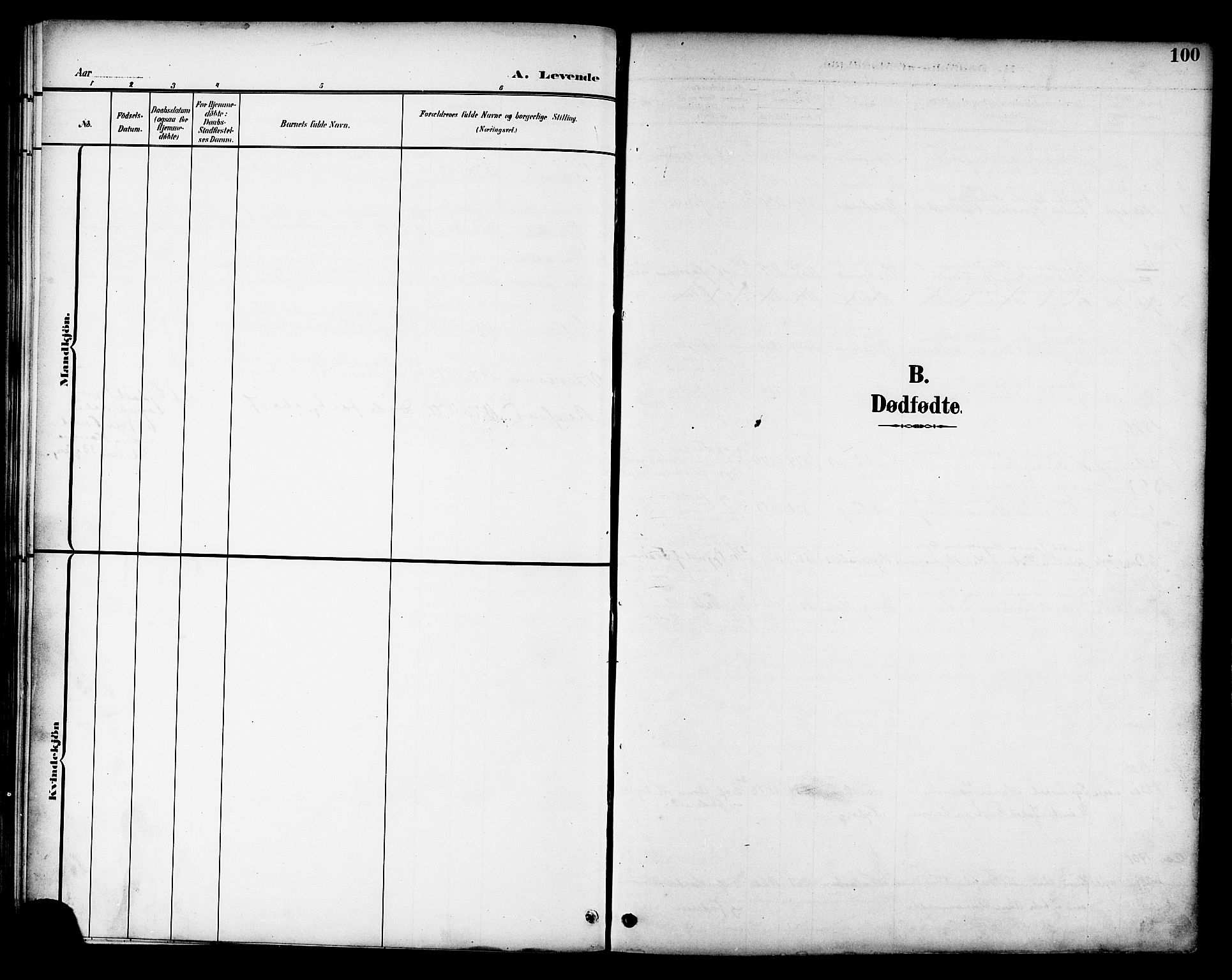 SAT, Ministerialprotokoller, klokkerbøker og fødselsregistre - Nord-Trøndelag, 709/L0087: Klokkerbok nr. 709C01, 1892-1913, s. 100