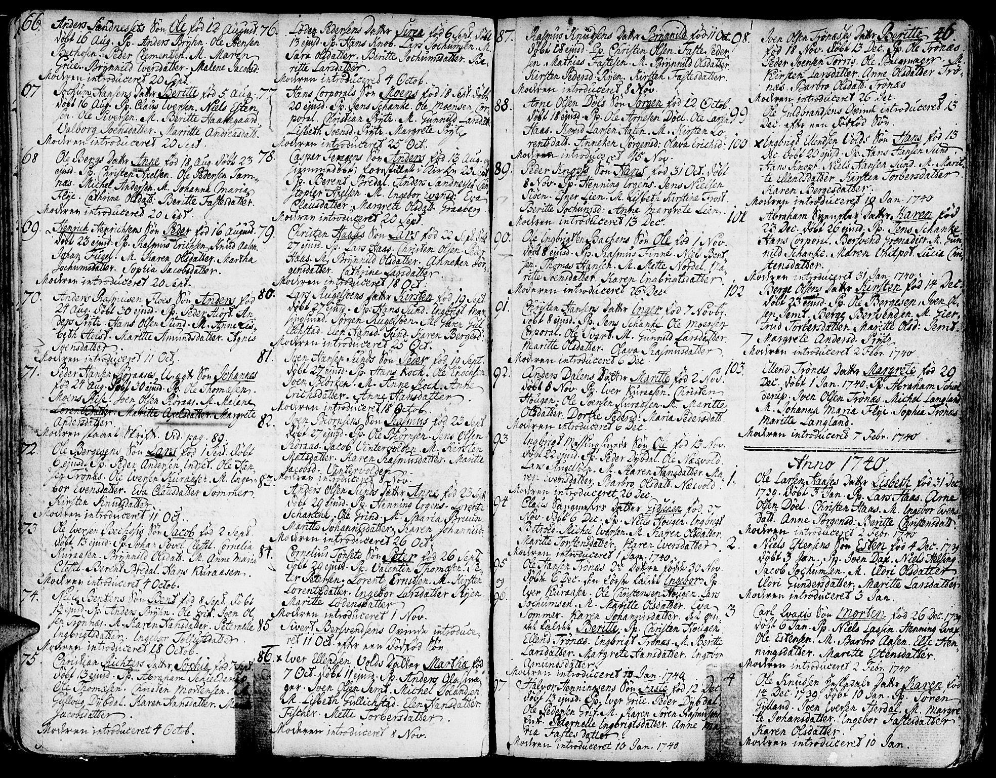 SAT, Ministerialprotokoller, klokkerbøker og fødselsregistre - Sør-Trøndelag, 681/L0925: Ministerialbok nr. 681A03, 1727-1766, s. 46