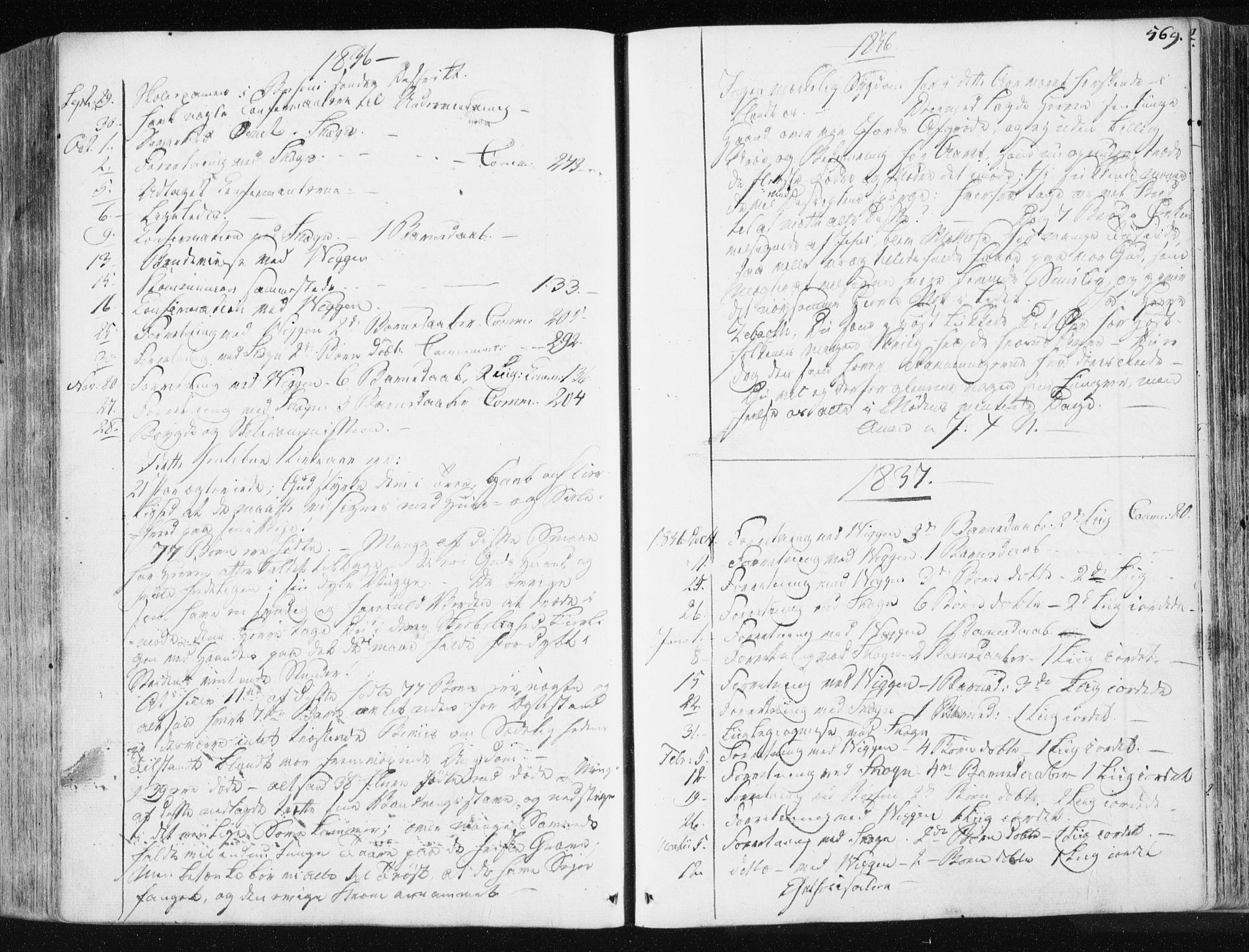 SAT, Ministerialprotokoller, klokkerbøker og fødselsregistre - Sør-Trøndelag, 665/L0771: Ministerialbok nr. 665A06, 1830-1856, s. 569