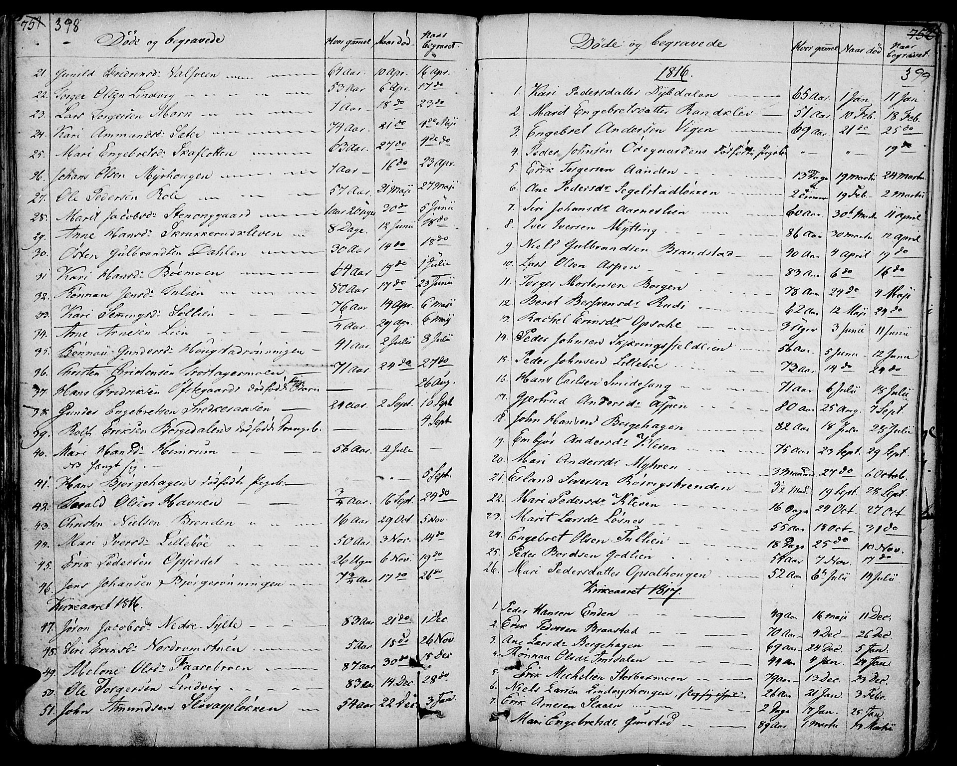 SAH, Ringebu prestekontor, Ministerialbok nr. 3, 1781-1820, s. 398-399
