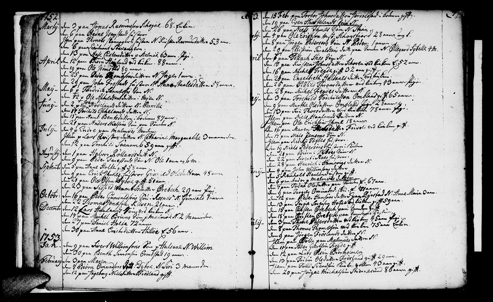 SAK, Mandal sokneprestkontor, F/Fa/Faa/L0005: Ministerialbok nr. A 5, 1748-1803, s. 6-7