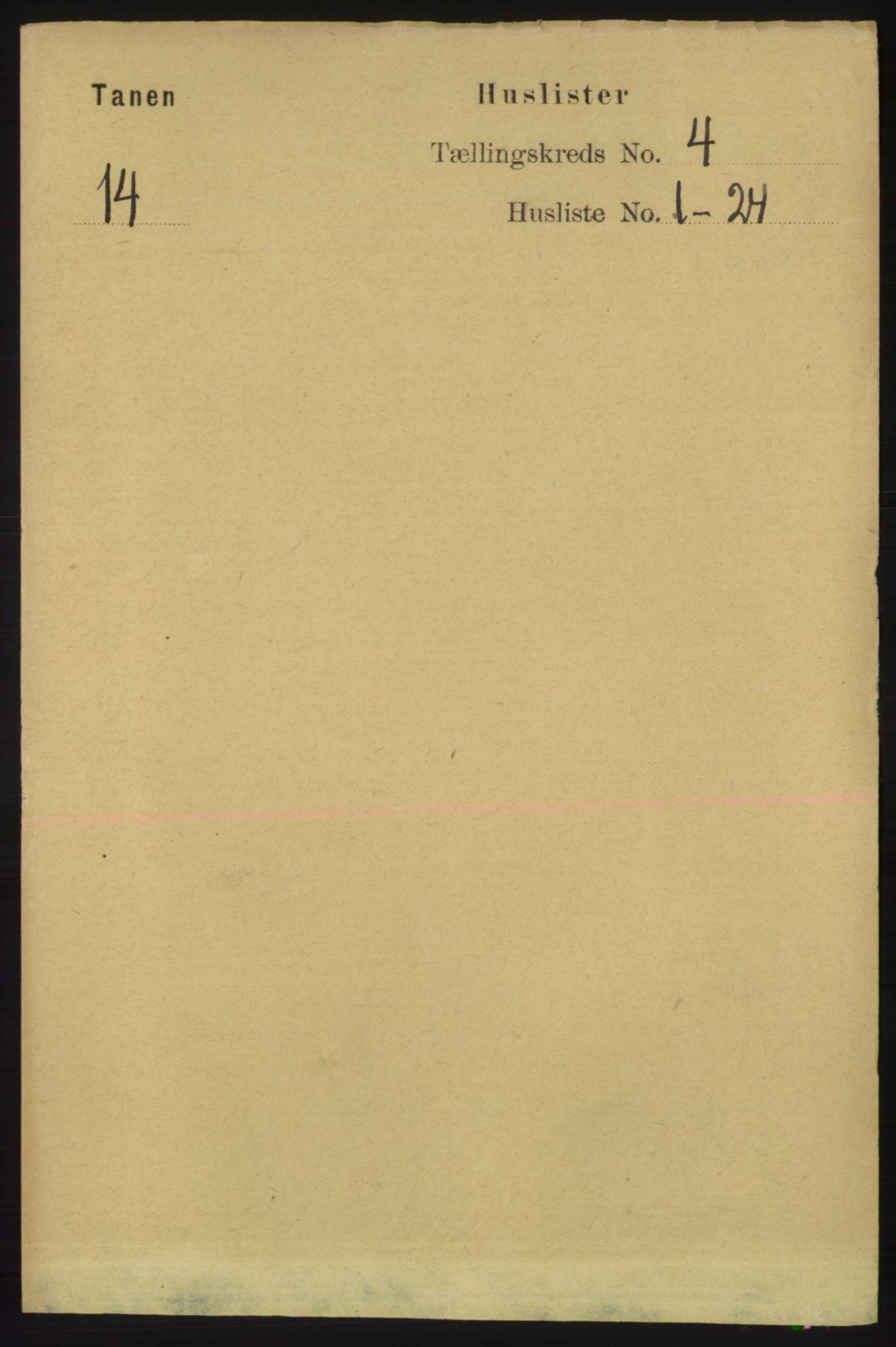 RA, Folketelling 1891 for 2025 Tana herred, 1891, s. 1715