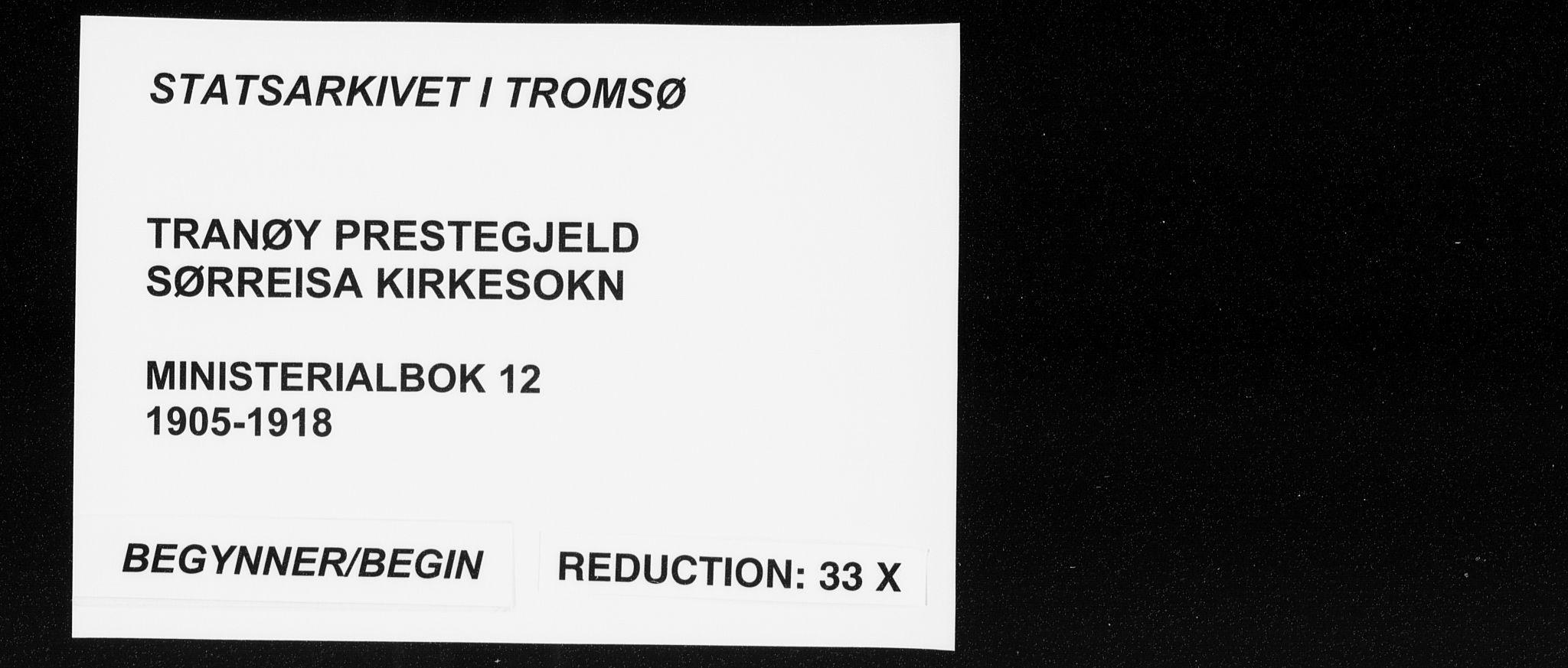 SATØ, Tranøy sokneprestkontor, I/Ia/Iaa/L0012kirke: Ministerialbok nr. 12, 1905-1918