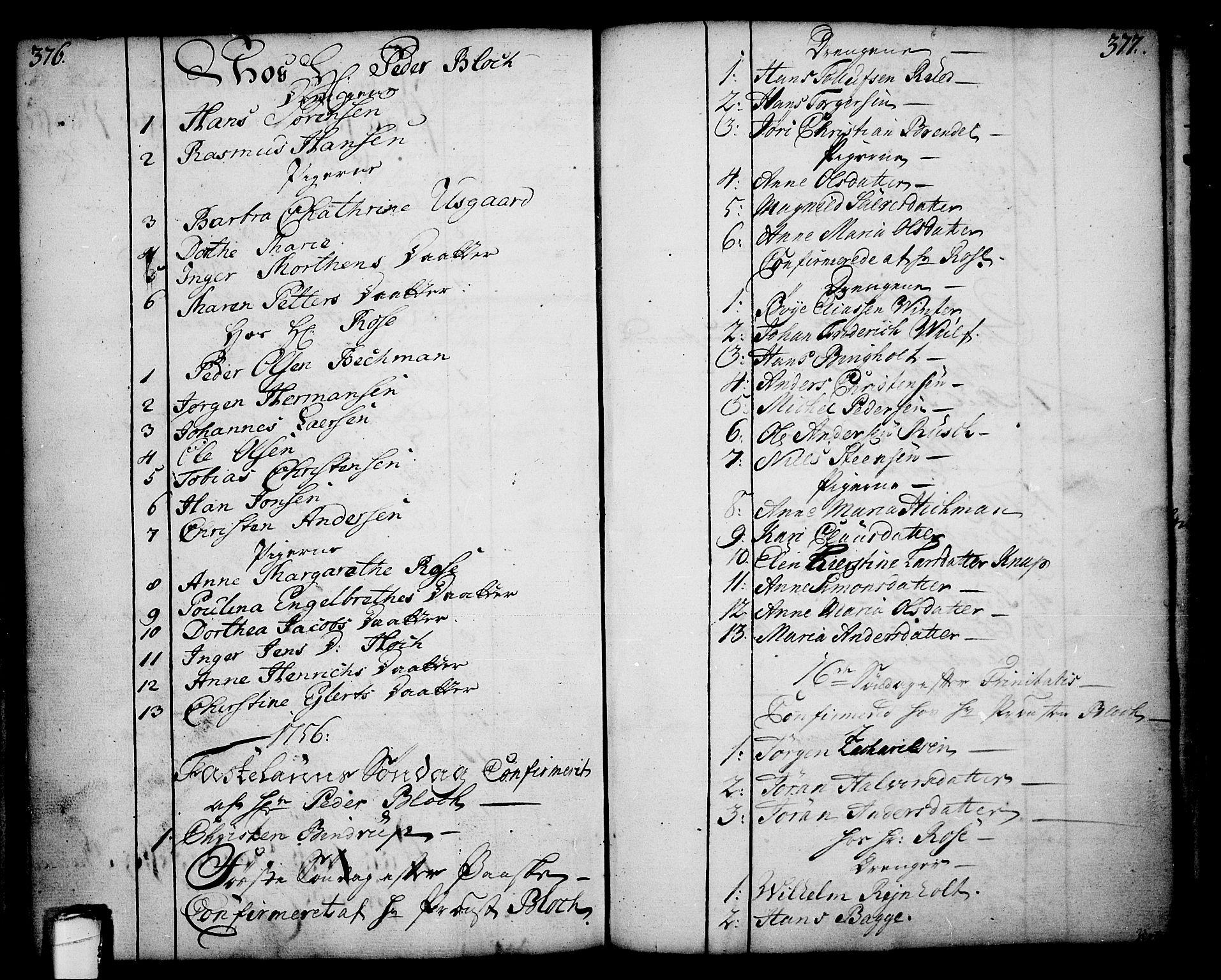 SAKO, Skien kirkebøker, F/Fa/L0003: Ministerialbok nr. 3, 1755-1791, s. 376-377