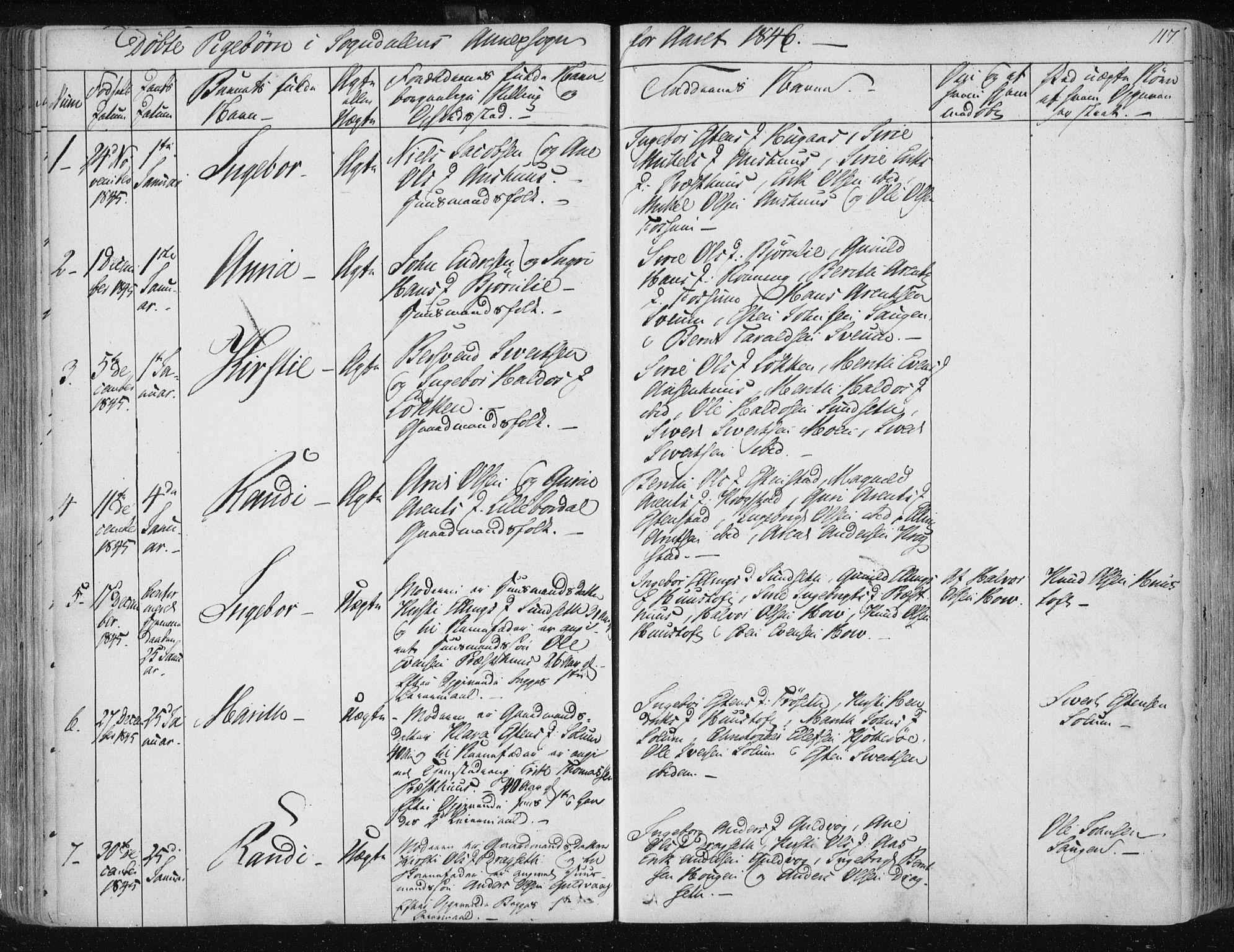 SAT, Ministerialprotokoller, klokkerbøker og fødselsregistre - Sør-Trøndelag, 687/L0999: Ministerialbok nr. 687A05 /3, 1843-1848, s. 117