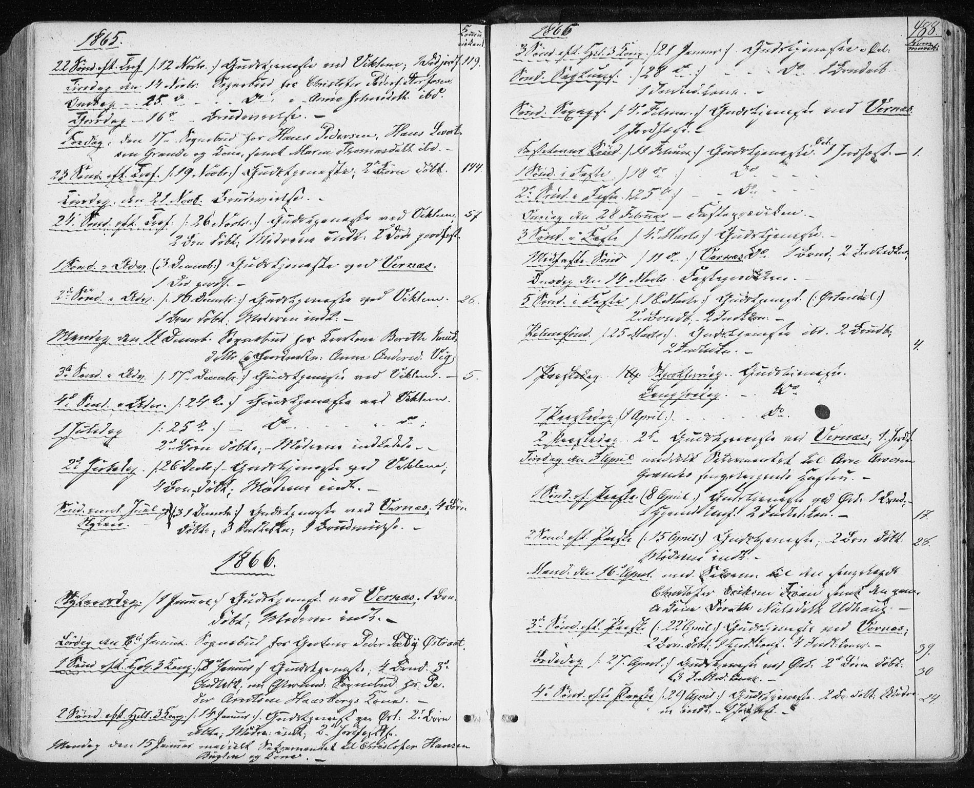SAT, Ministerialprotokoller, klokkerbøker og fødselsregistre - Sør-Trøndelag, 659/L0737: Ministerialbok nr. 659A07, 1857-1875, s. 488