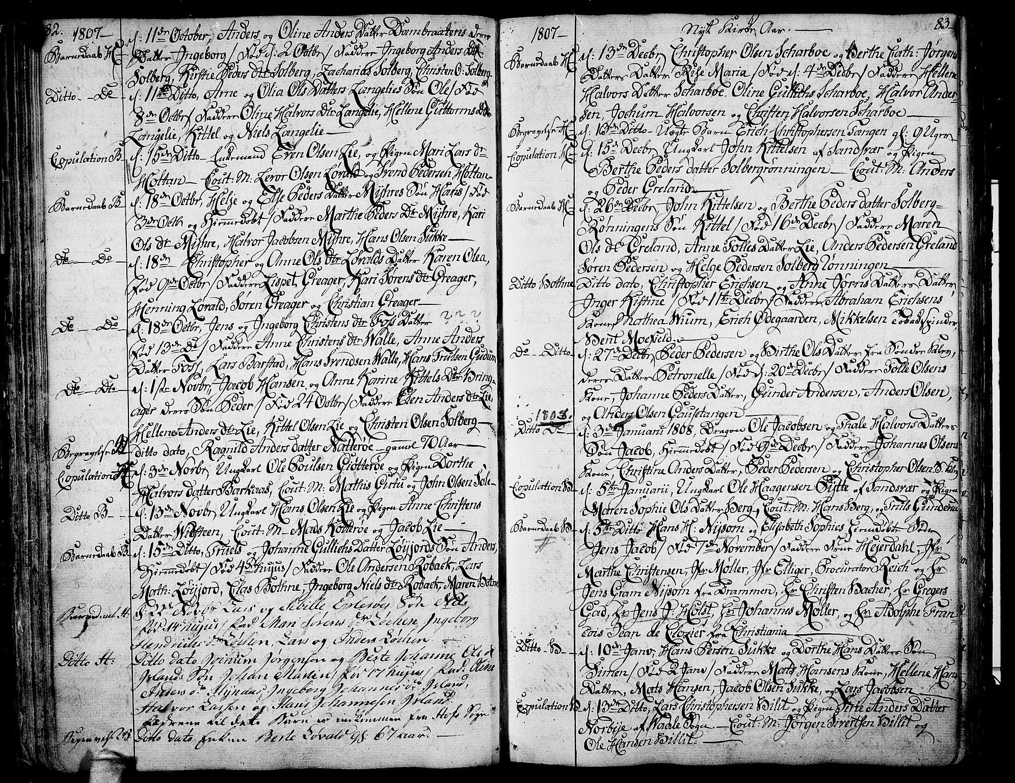 SAKO, Botne kirkebøker, F/Fa/L0003: Ministerialbok nr. I 3 /1, 1792-1844, s. 82-83