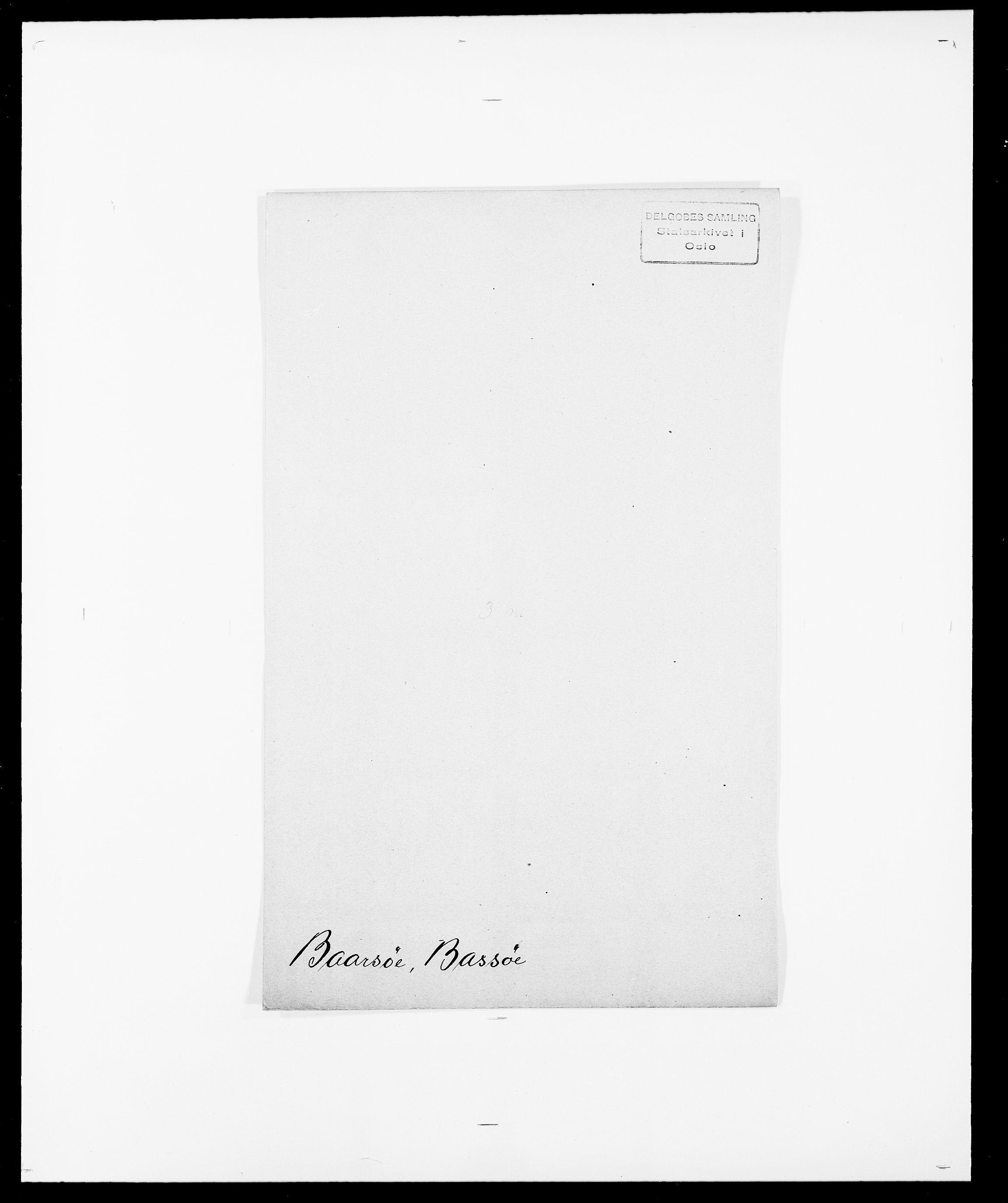SAO, Delgobe, Charles Antoine - samling, D/Da/L0003: Barca - Bergen, s. 5