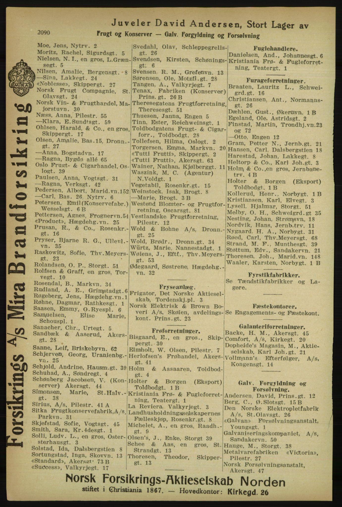 PUBL, Kristiania/Oslo adressebok, 1918, s. 2243