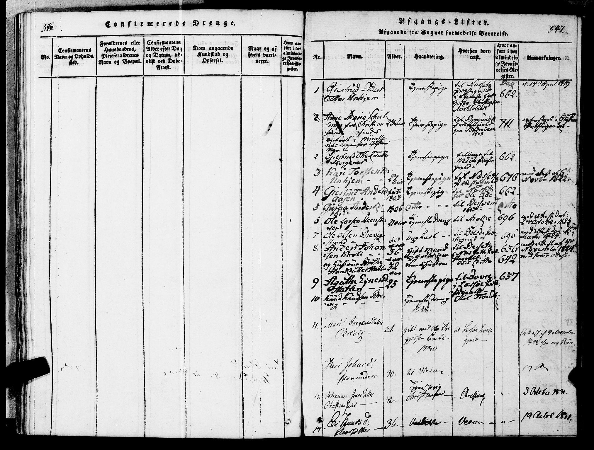 SAT, Ministerialprotokoller, klokkerbøker og fødselsregistre - Møre og Romsdal, 545/L0585: Ministerialbok nr. 545A01, 1818-1853, s. 546-547