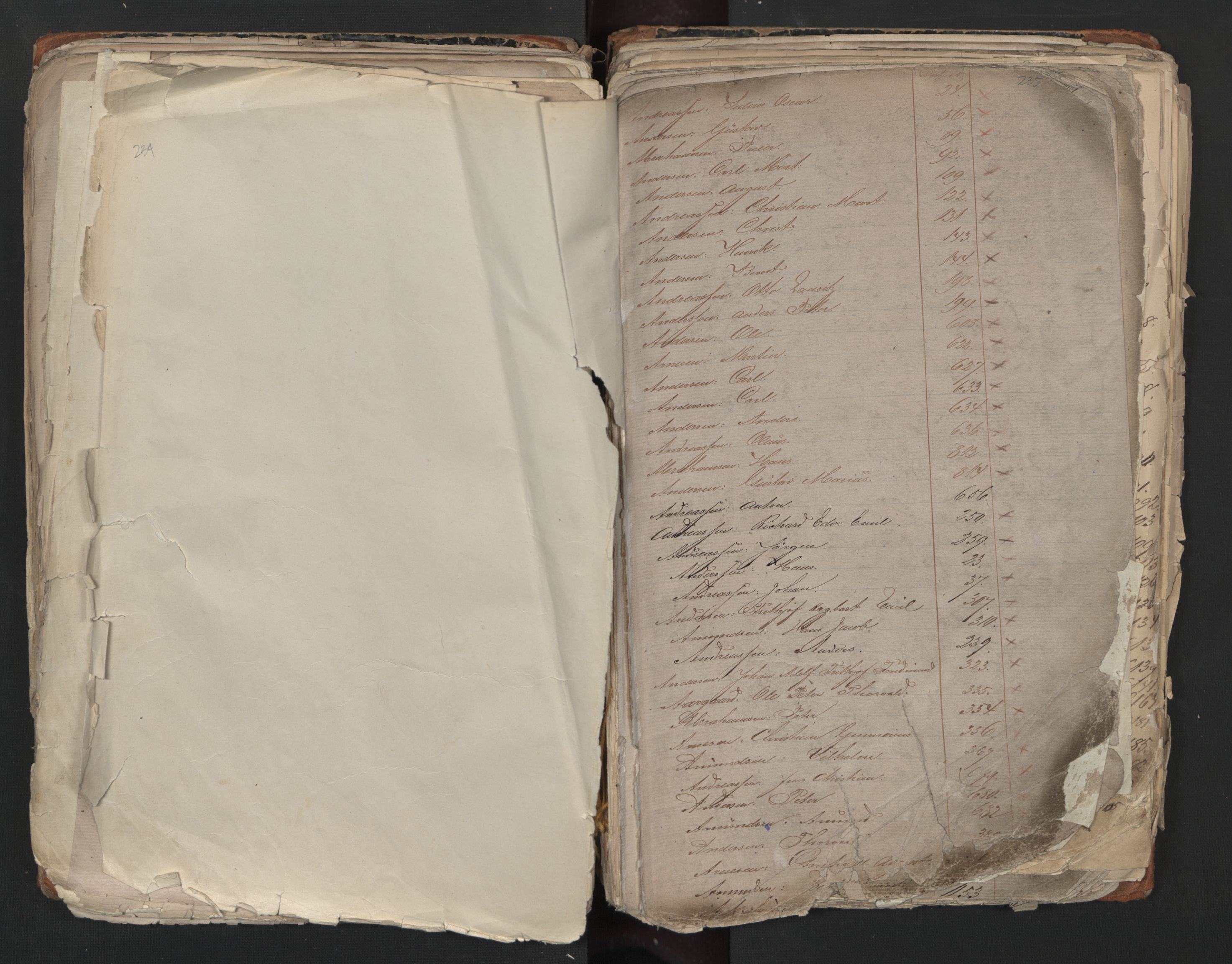 SAO, Oslo sjømannskontor, F/Fa/L0001: Register for Kristiania krets, 1866-1891, s. 234-235
