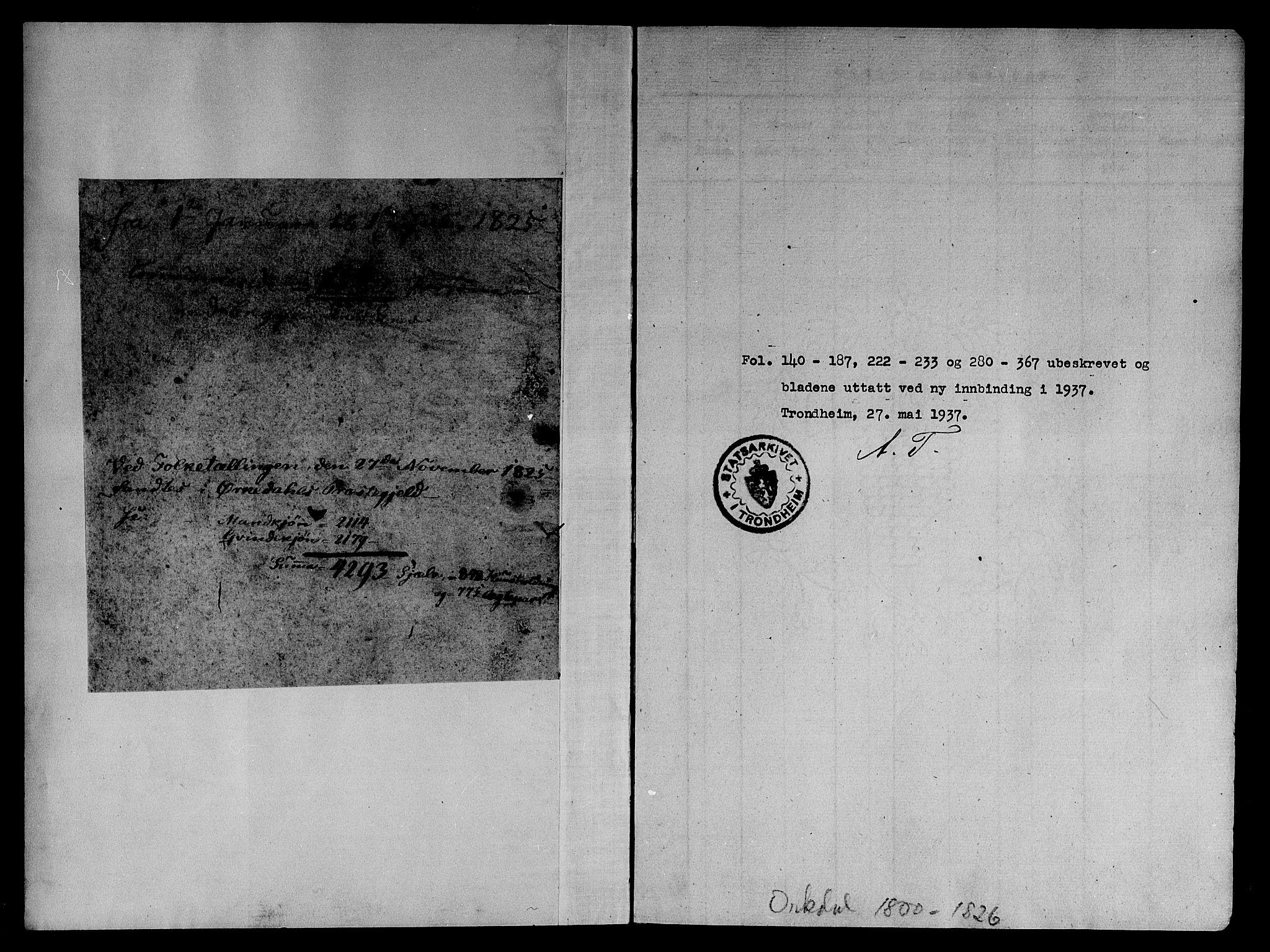 SAT, Ministerialprotokoller, klokkerbøker og fødselsregistre - Sør-Trøndelag, 668/L0803: Ministerialbok nr. 668A03, 1800-1826