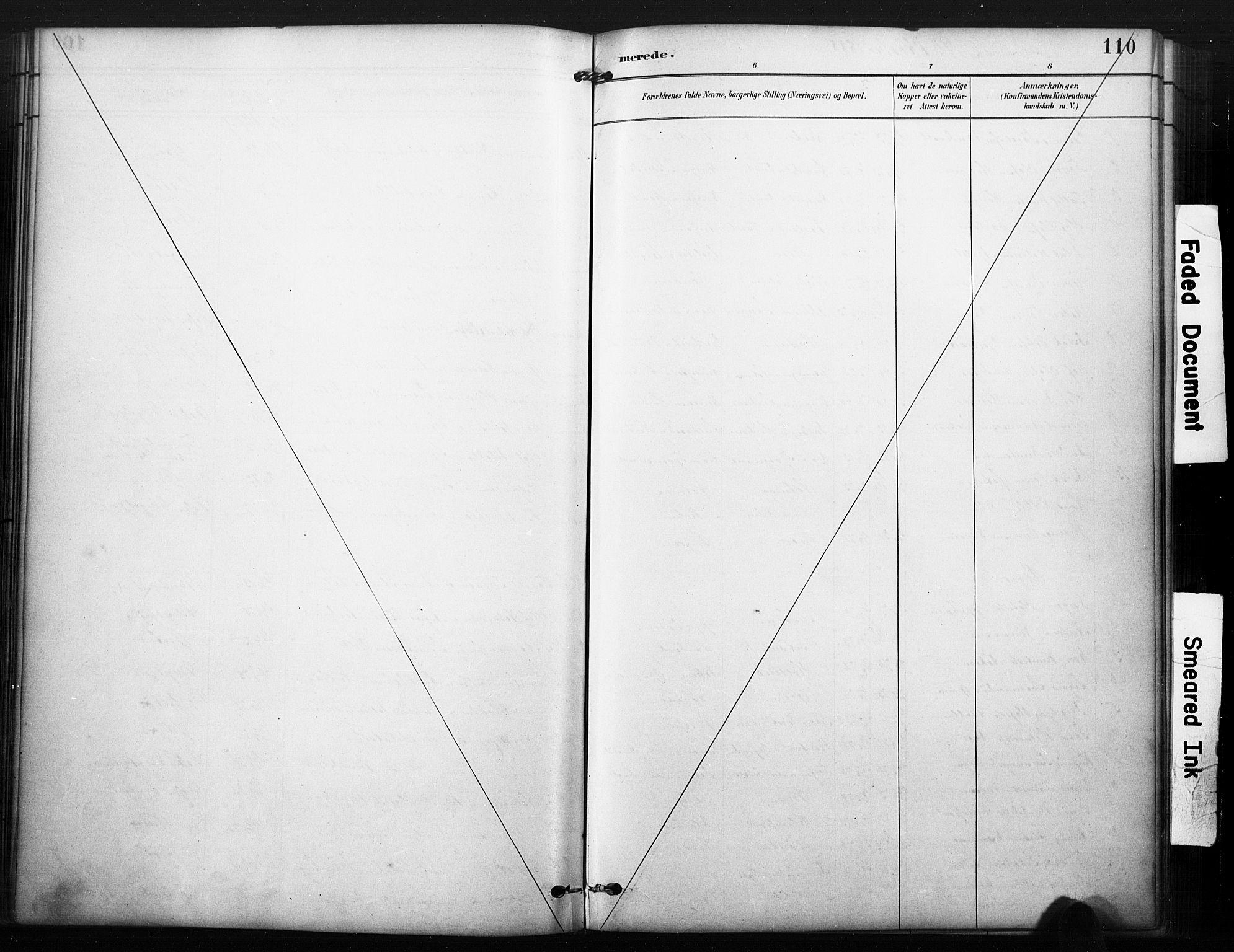 SAKO, Kviteseid kirkebøker, F/Fa/L0008: Ministerialbok nr. I 8, 1882-1903, s. 110