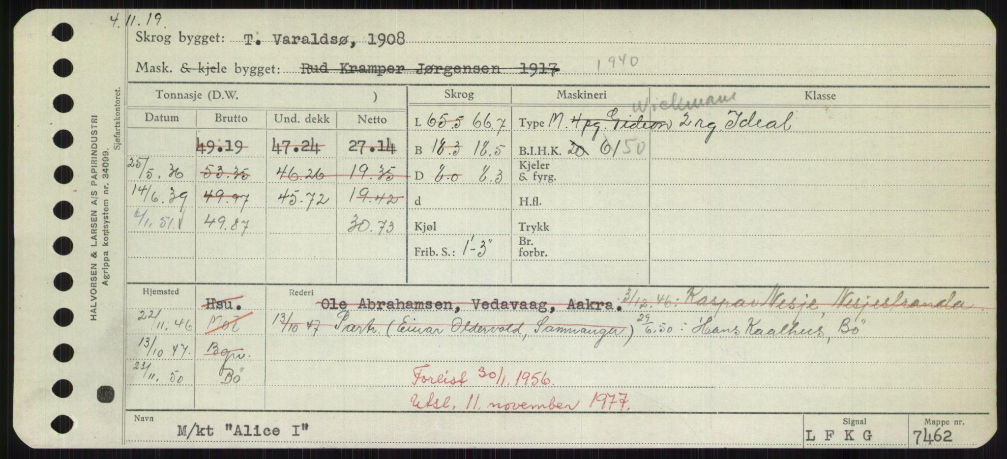 RA, Sjøfartsdirektoratet med forløpere, Skipsmålingen, H/Hd/L0001: Fartøy, A-Anv, s. 343