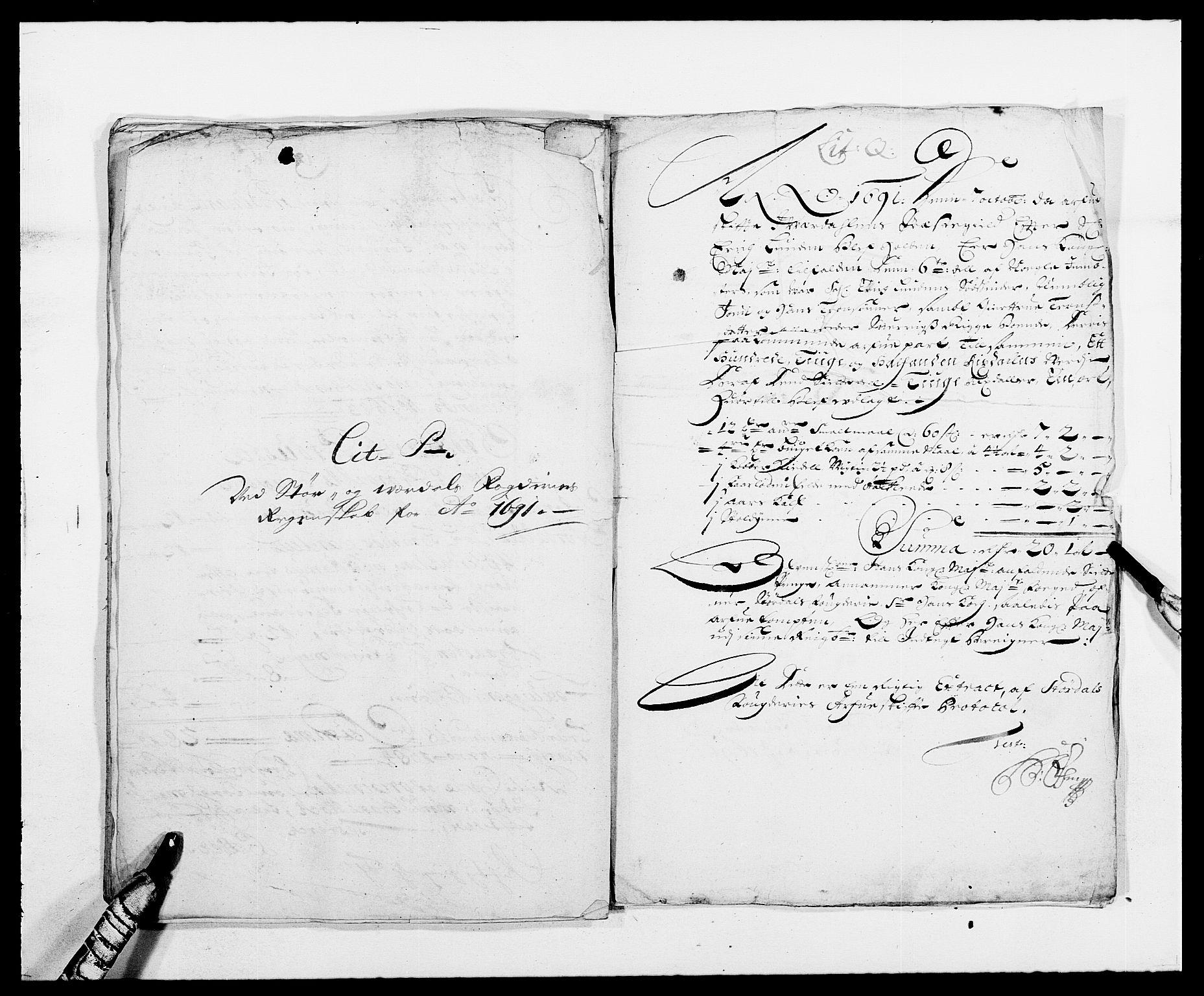 RA, Rentekammeret inntil 1814, Reviderte regnskaper, Fogderegnskap, R62/L4184: Fogderegnskap Stjørdal og Verdal, 1690-1691, s. 425