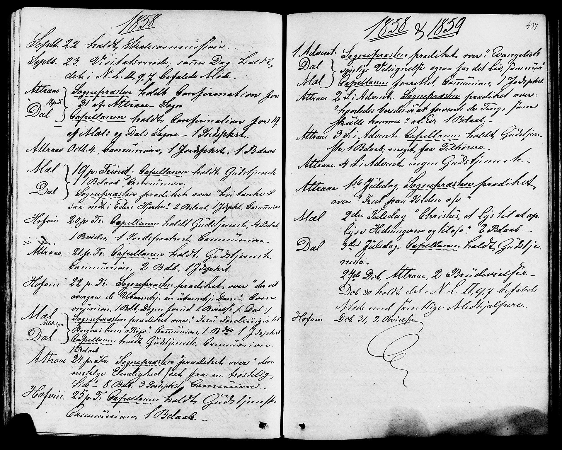 SAKO, Tinn kirkebøker, F/Fa/L0006: Ministerialbok nr. I 6, 1857-1878, s. 437