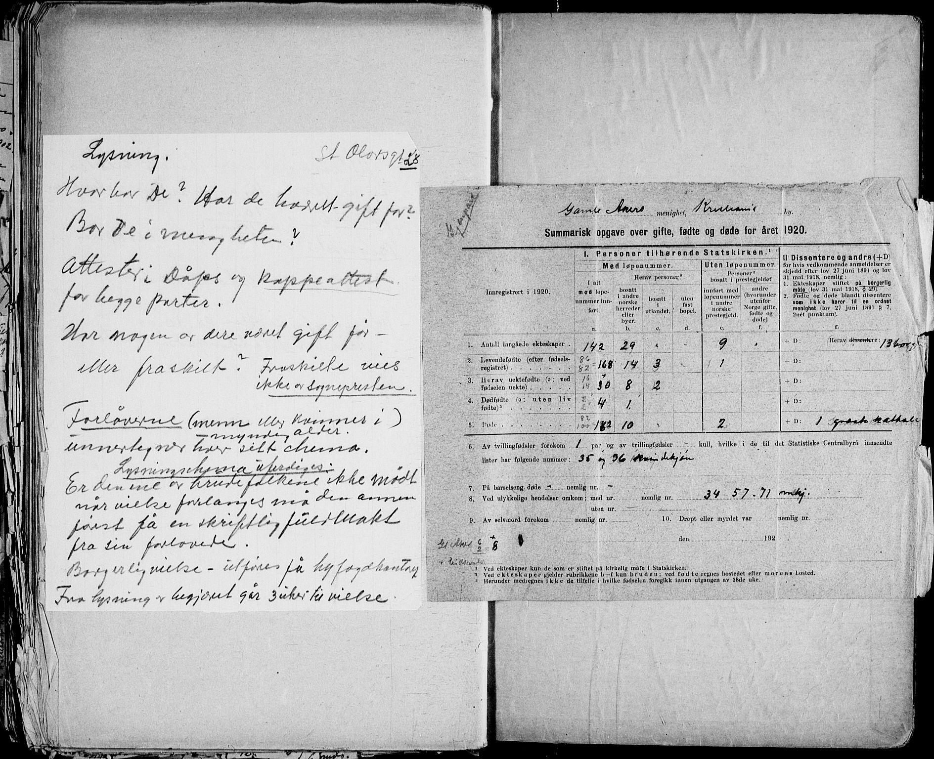SAO, Gamle Aker prestekontor Kirkebøker, H/L0005: Lysningsprotokoll nr. 5, 1918-1930