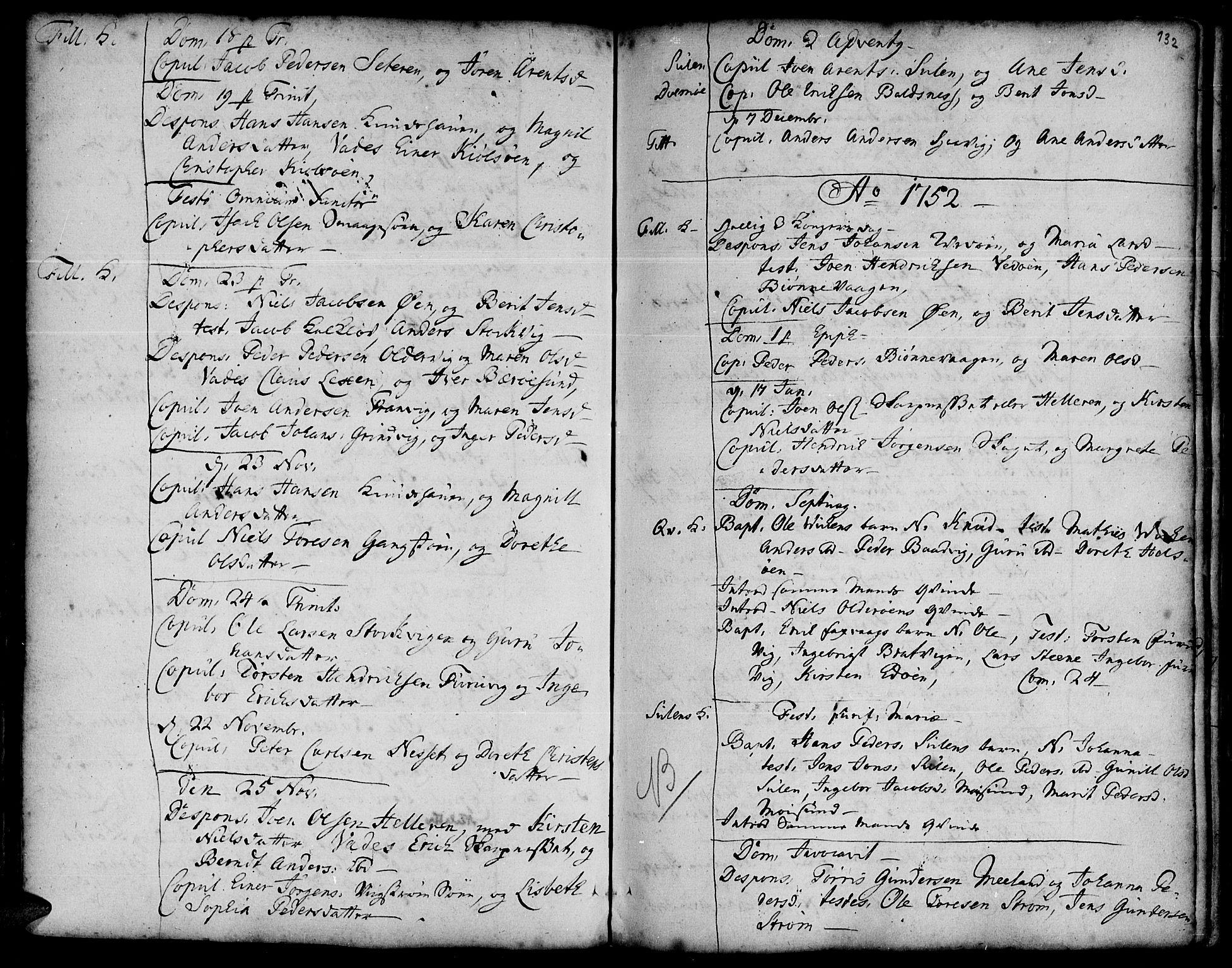 SAT, Ministerialprotokoller, klokkerbøker og fødselsregistre - Sør-Trøndelag, 634/L0525: Ministerialbok nr. 634A01, 1736-1775, s. 132