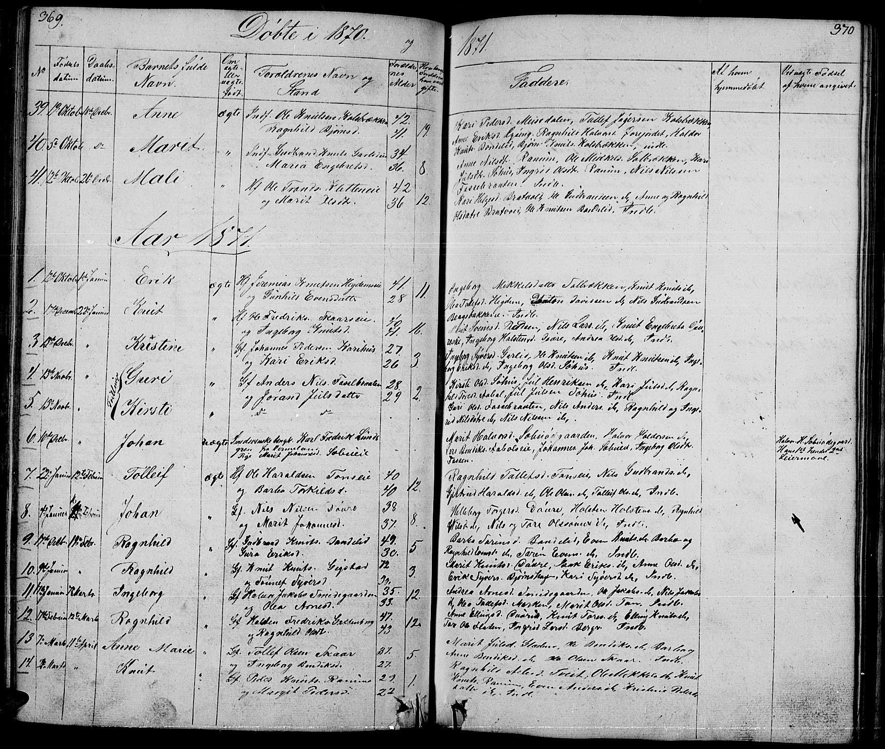 SAH, Nord-Aurdal prestekontor, Klokkerbok nr. 1, 1834-1887, s. 369-370