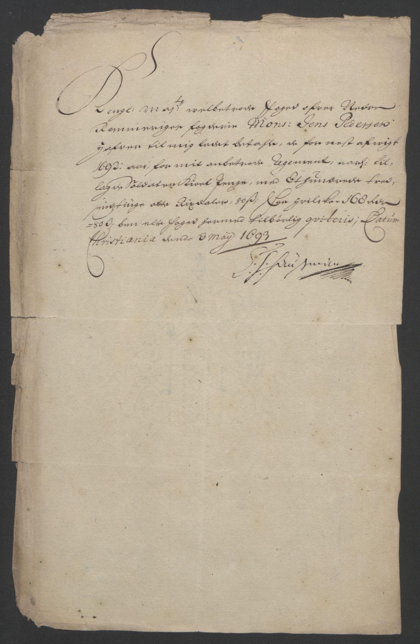 RA, Rentekammeret inntil 1814, Reviderte regnskaper, Fogderegnskap, R11/L0577: Fogderegnskap Nedre Romerike, 1692, s. 236