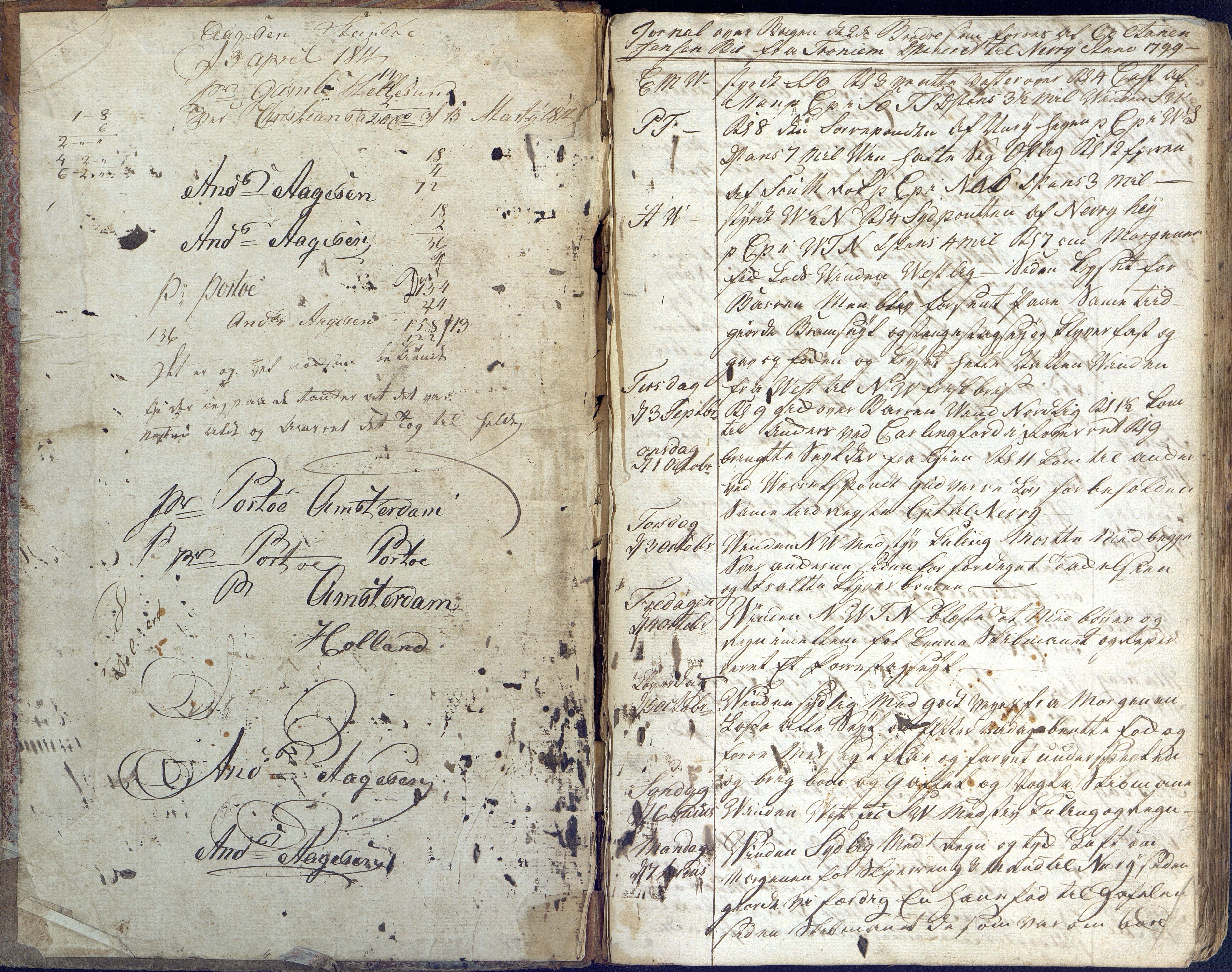 AAKS, Fartøysarkivet, F/L0096: Flere fartøy (se mappenivå), 1778-1815, s. 1