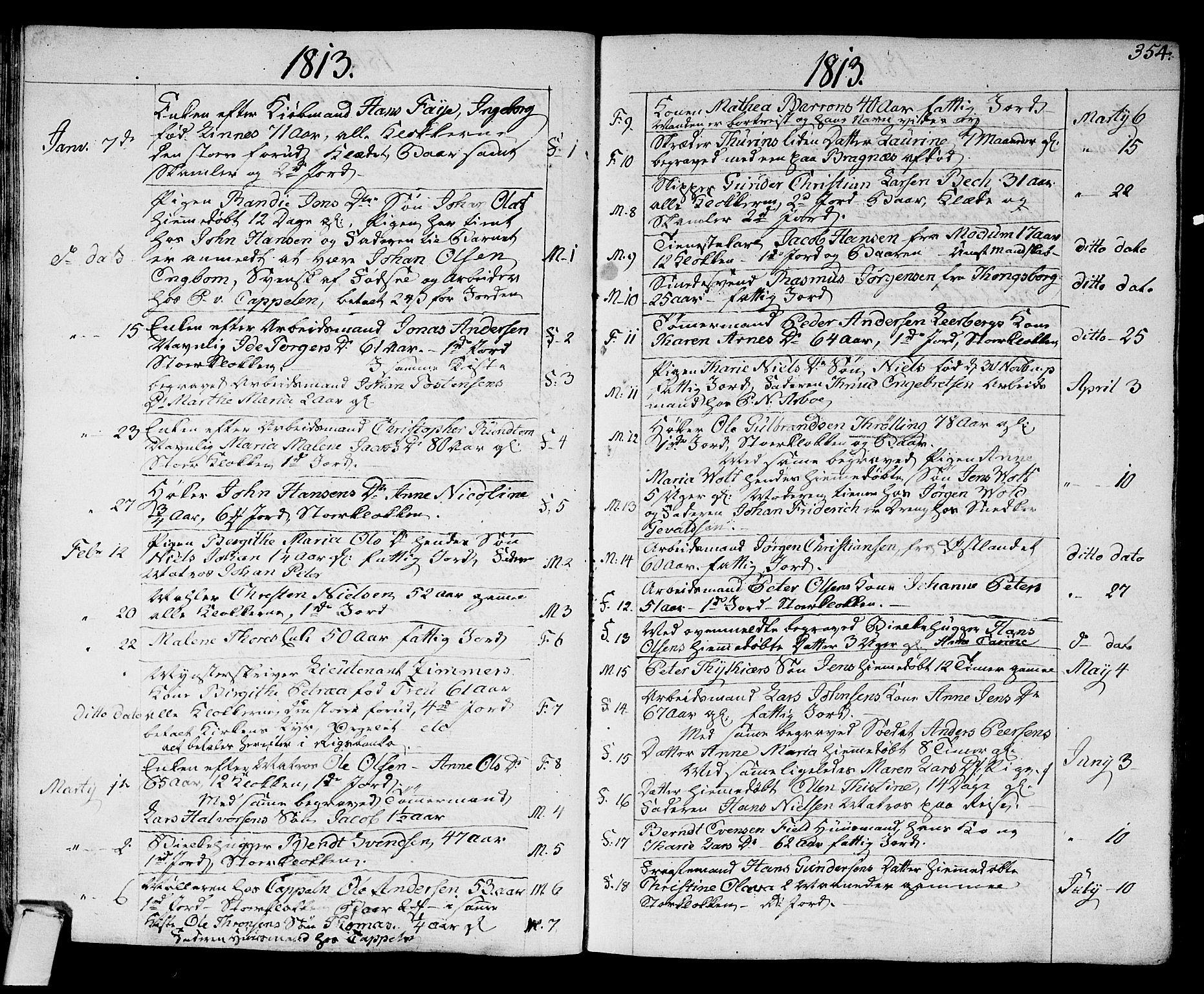 SAKO, Strømsø kirkebøker, F/Fa/L0010: Ministerialbok nr. I 10, 1792-1822, s. 354