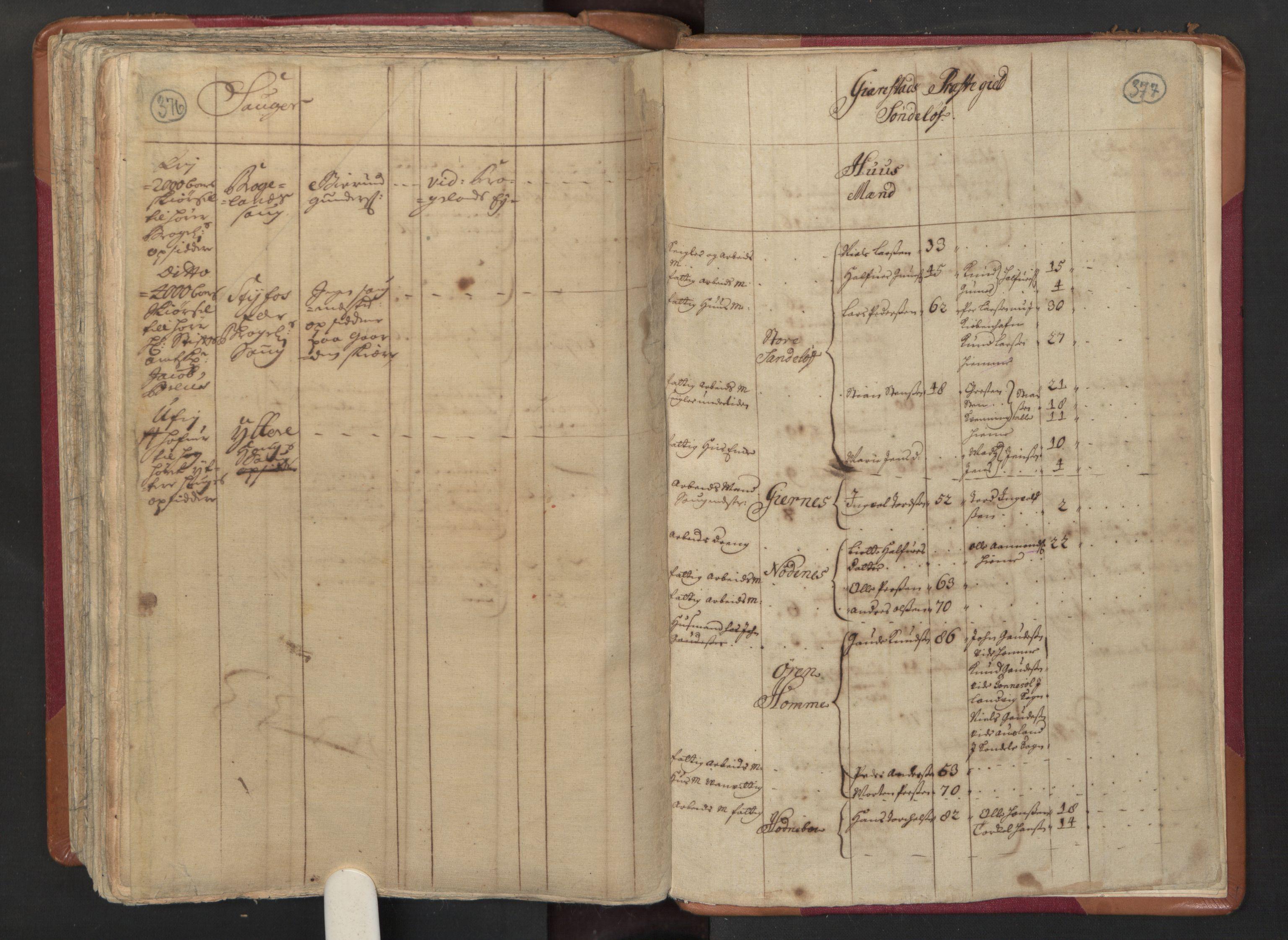 RA, Manntallet 1701, nr. 3: Nedenes fogderi, 1701, s. 376-377