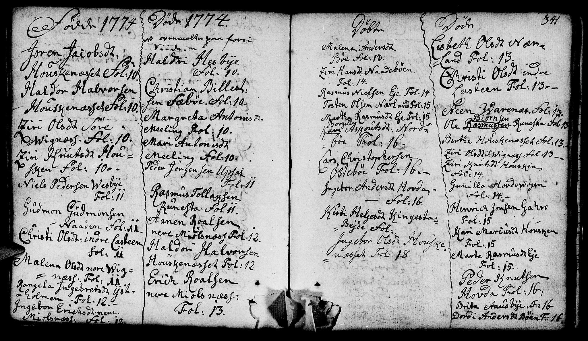 SAST, Finnøy sokneprestkontor, H/Ha/Haa/L0005: Ministerialbok nr. A 5, 1773-1816, s. 341