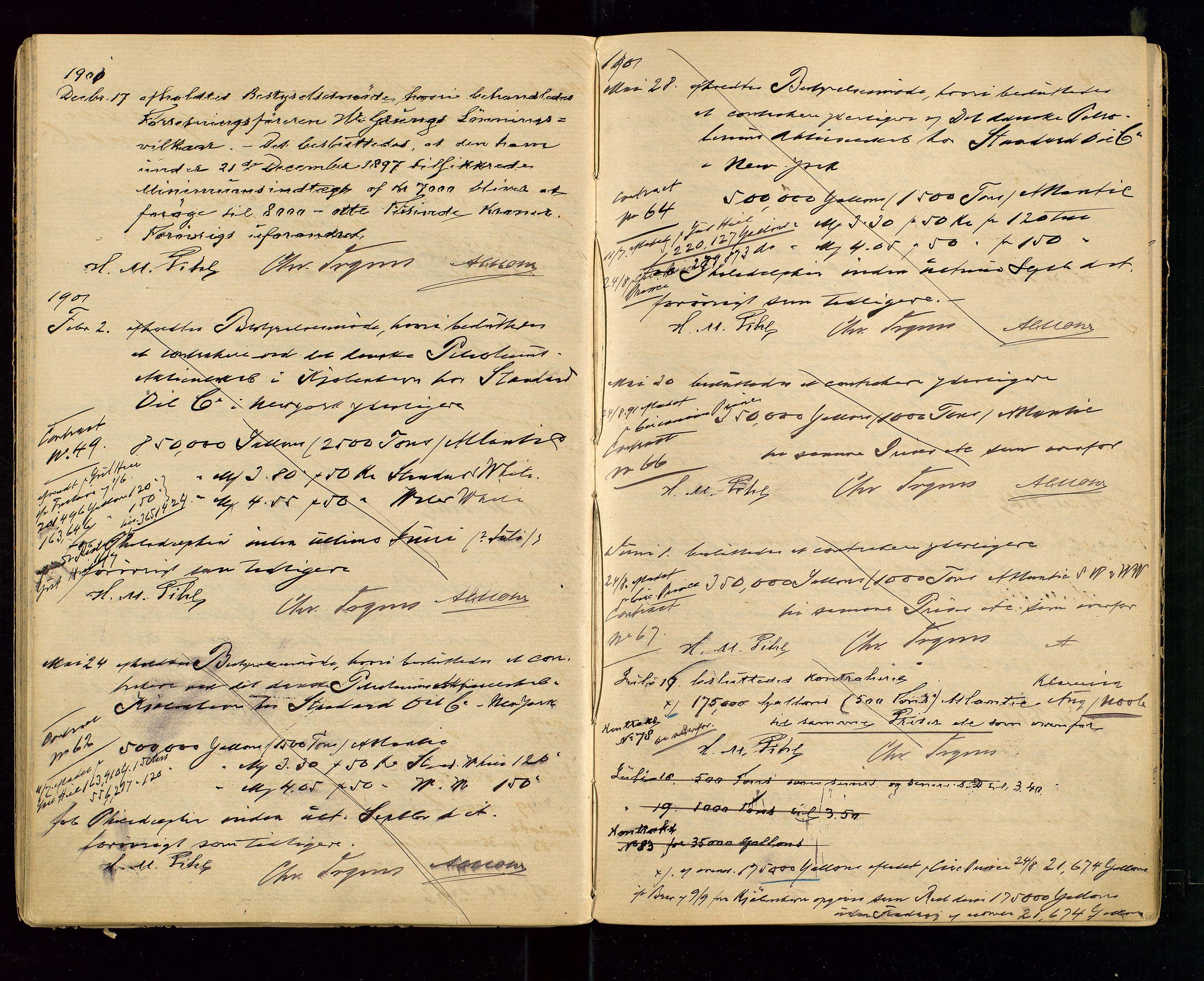 SAST, PA 1533 - A/S Vestlandske Petroleumscompani, A/Aa/L0001: Generalforsamlinger og styreprotokoller, 1890-1907, s. 42