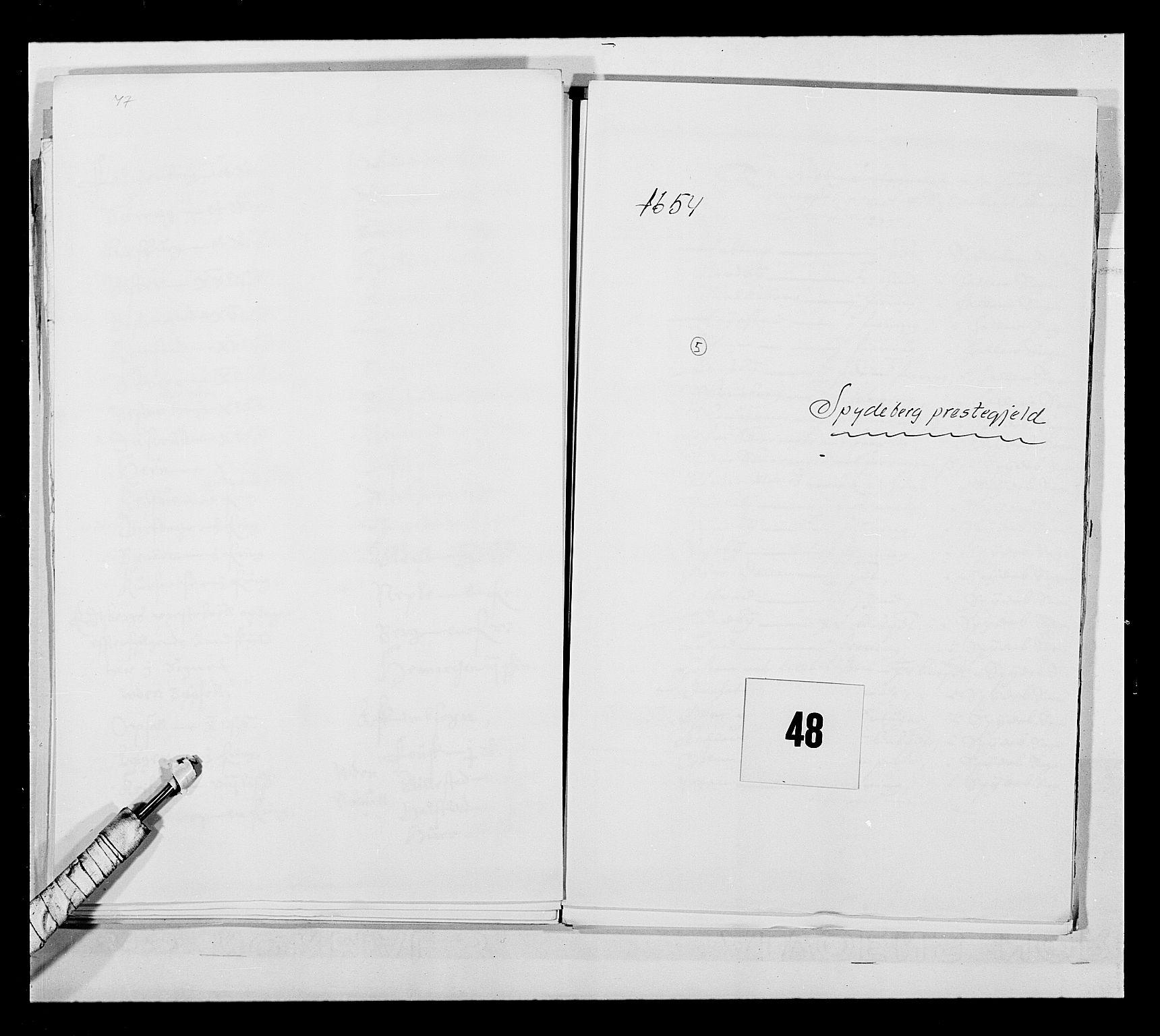 RA, Stattholderembetet 1572-1771, Ek/L0030: Jordebøker 1633-1658:, 1654, s. 228