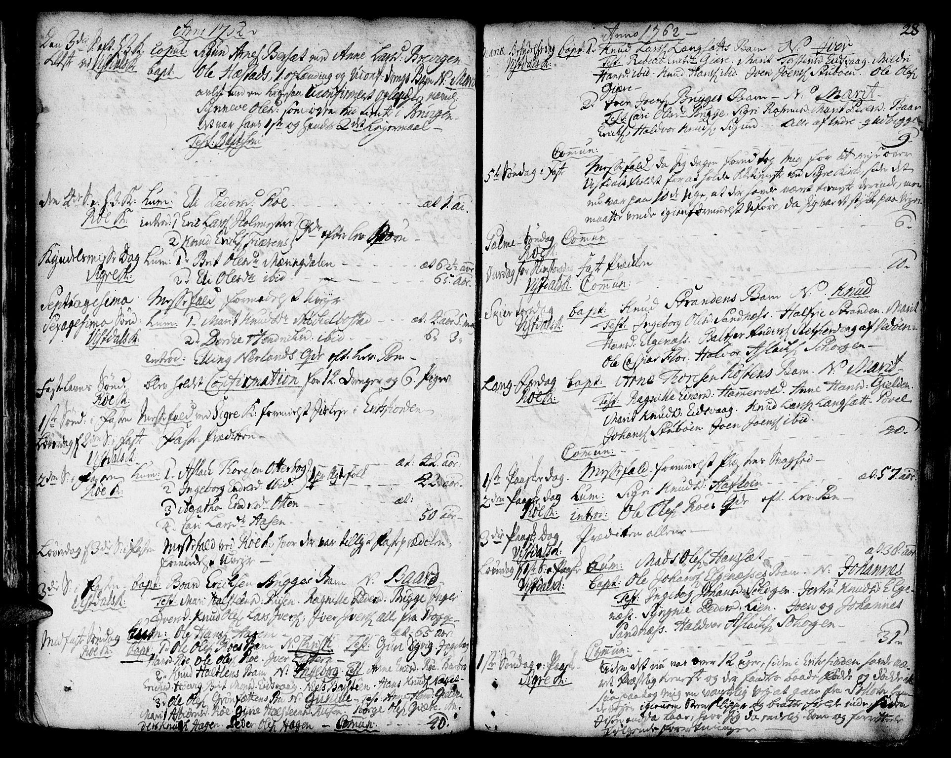 SAT, Ministerialprotokoller, klokkerbøker og fødselsregistre - Møre og Romsdal, 551/L0621: Ministerialbok nr. 551A01, 1757-1803, s. 28