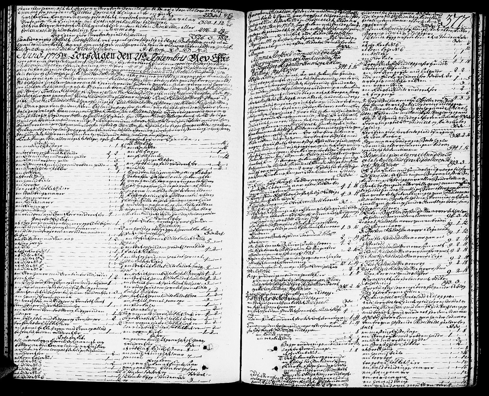 SAT, Orkdal sorenskriveri, 3/3Aa/L0007: Skifteprotokoller, 1767-1782, s. 376b-377a