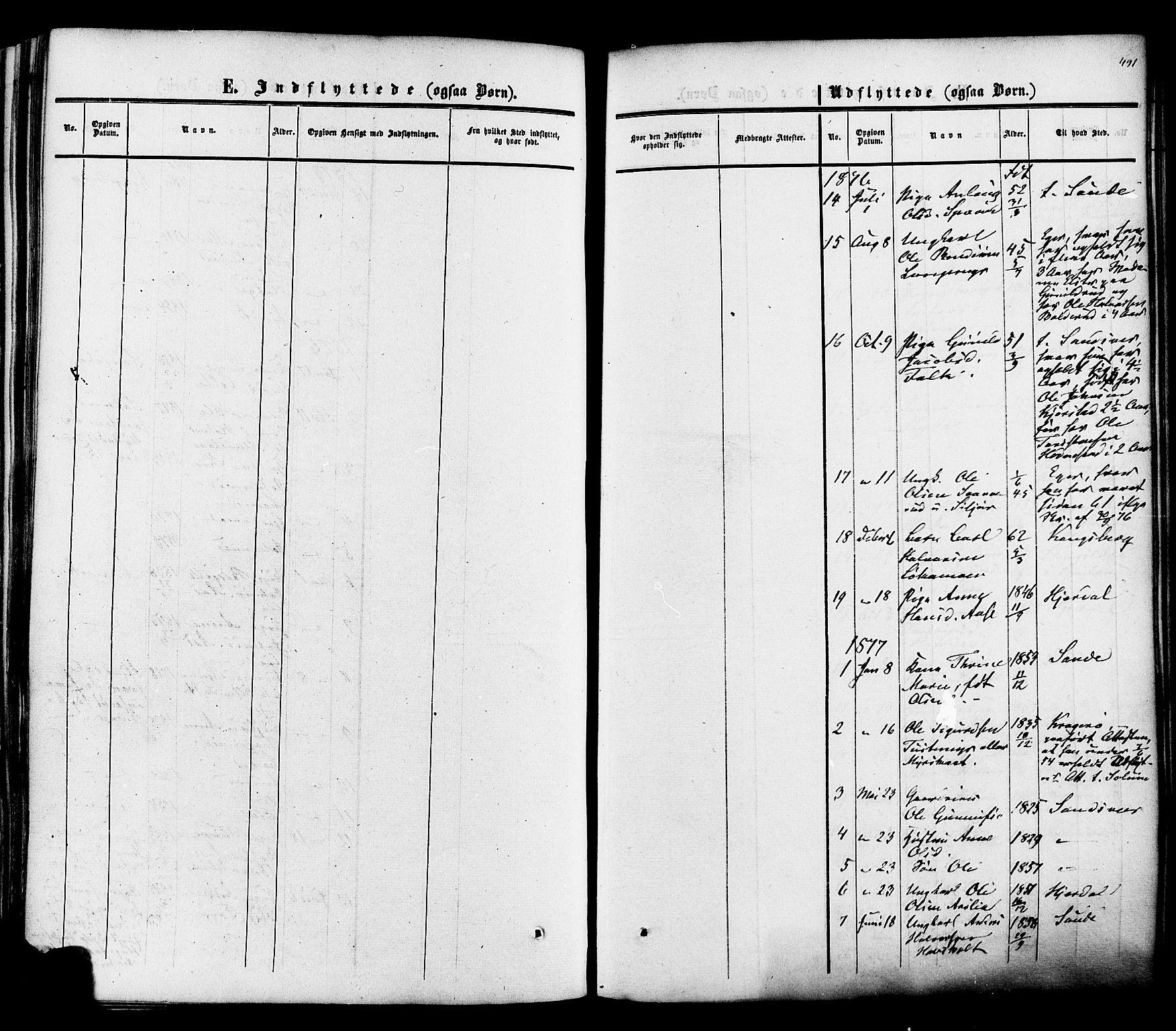 SAKO, Heddal kirkebøker, F/Fa/L0007: Ministerialbok nr. I 7, 1855-1877, s. 491
