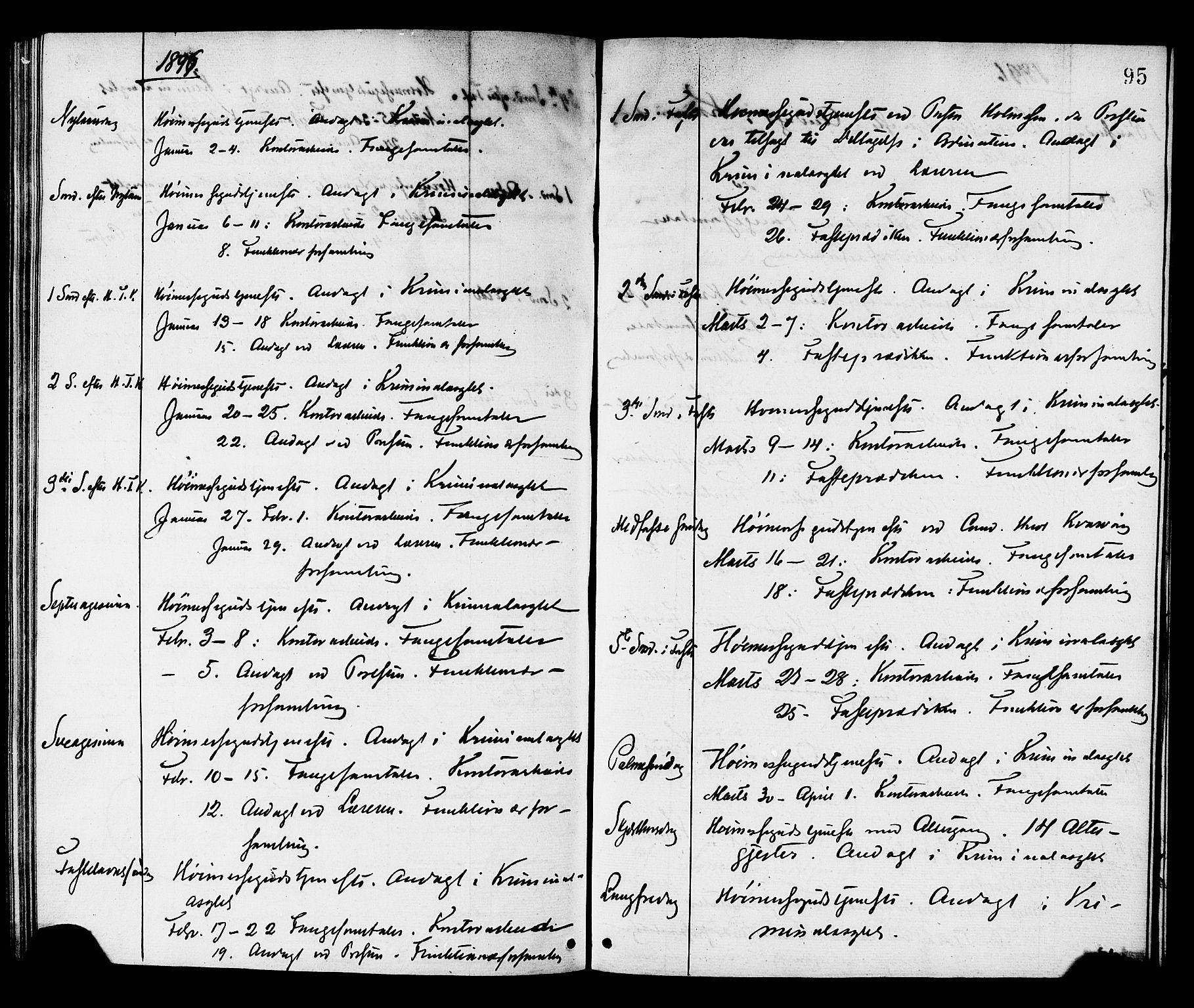 SAT, Ministerialprotokoller, klokkerbøker og fødselsregistre - Sør-Trøndelag, 624/L0482: Ministerialbok nr. 624A03, 1870-1918, s. 95