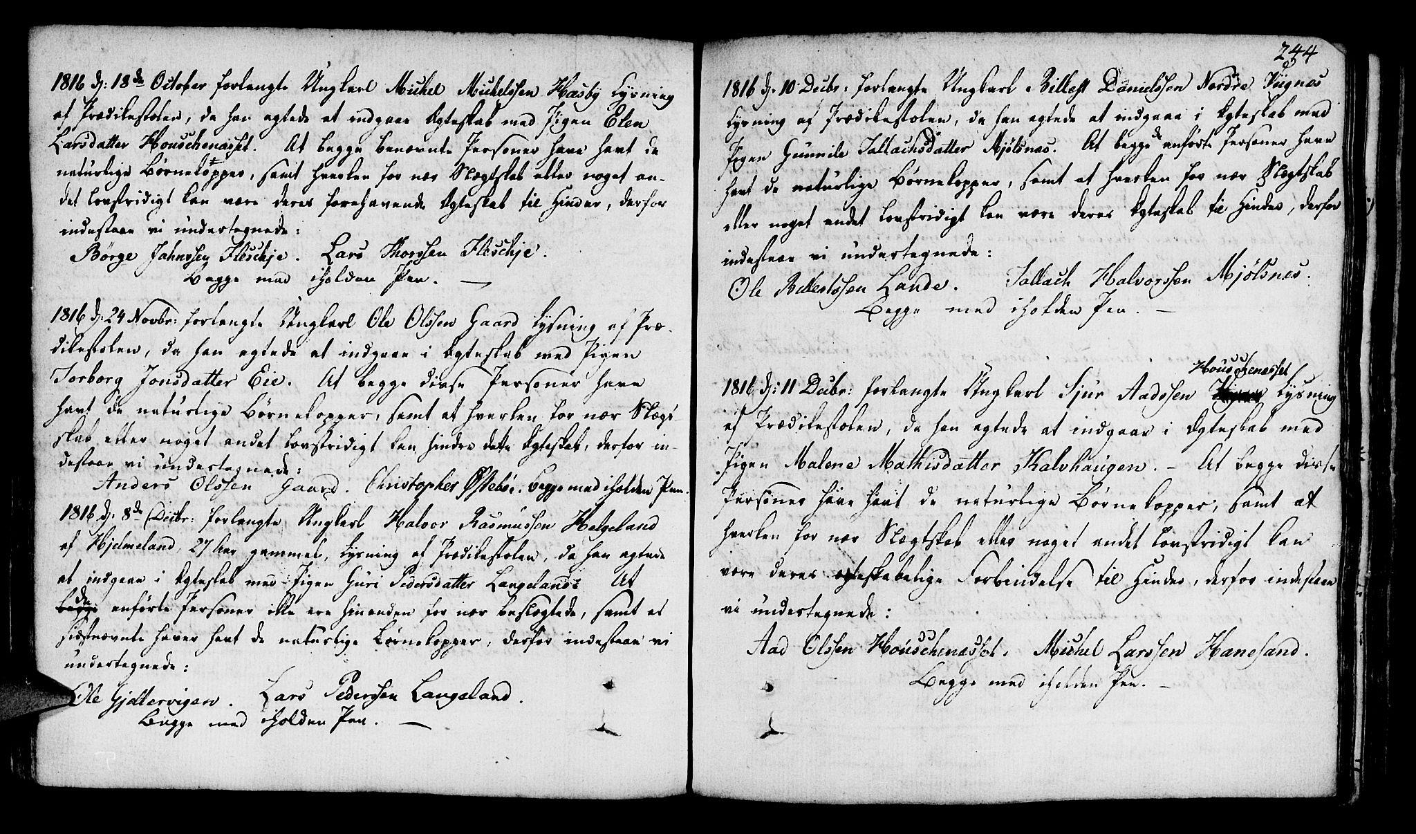 SAST, Finnøy sokneprestkontor, H/Ha/Haa/L0005: Ministerialbok nr. A 5, 1773-1816, s. 244
