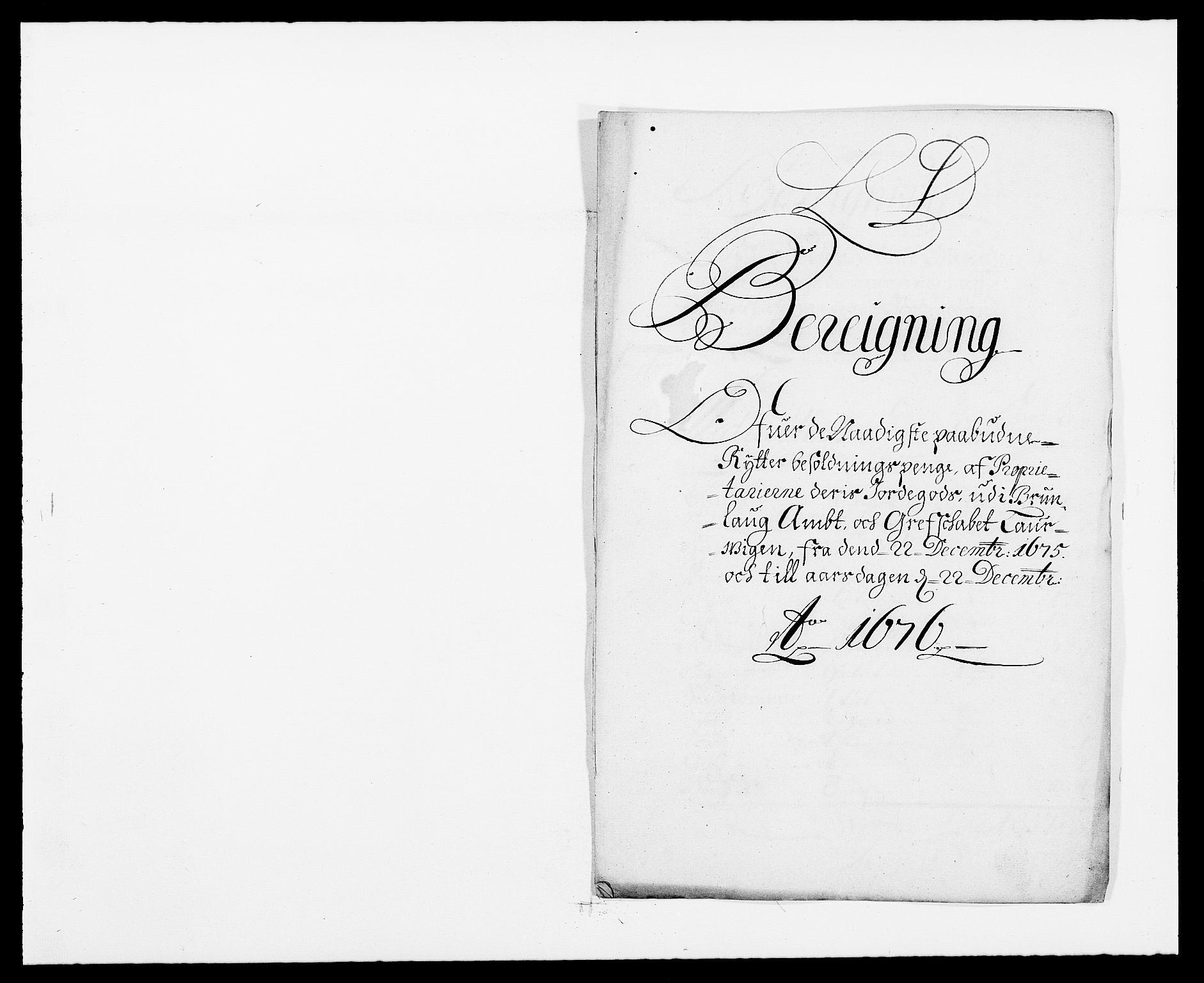 RA, Rentekammeret inntil 1814, Reviderte regnskaper, Fogderegnskap, R33/L1967: Fogderegnskap Larvik grevskap, 1675-1687, s. 327