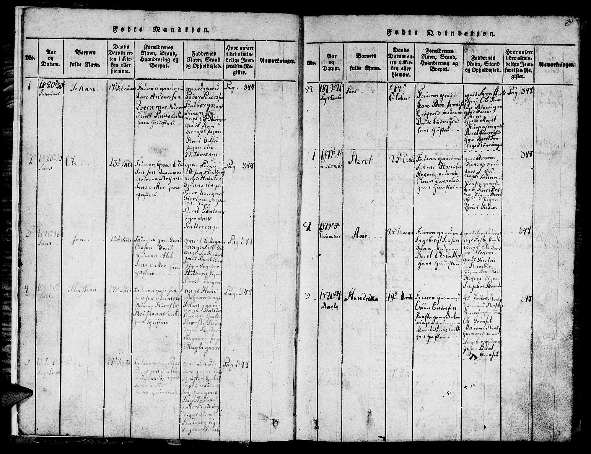 SAT, Ministerialprotokoller, klokkerbøker og fødselsregistre - Sør-Trøndelag, 685/L0976: Klokkerbok nr. 685C01, 1817-1878, s. 5