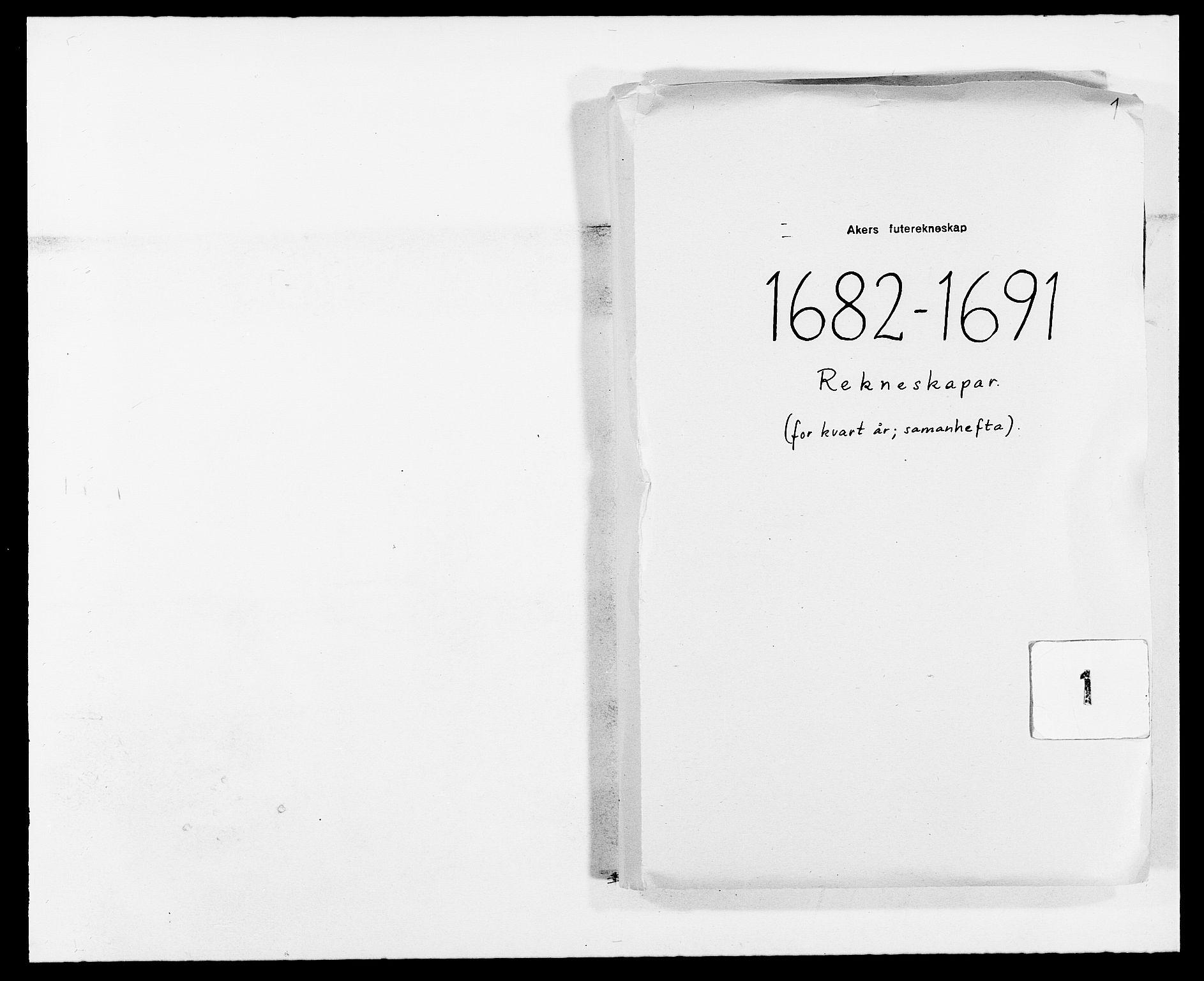 RA, Rentekammeret inntil 1814, Reviderte regnskaper, Fogderegnskap, R08/L0420: Fogderegnskap Aker, 1682-1691, s. 1
